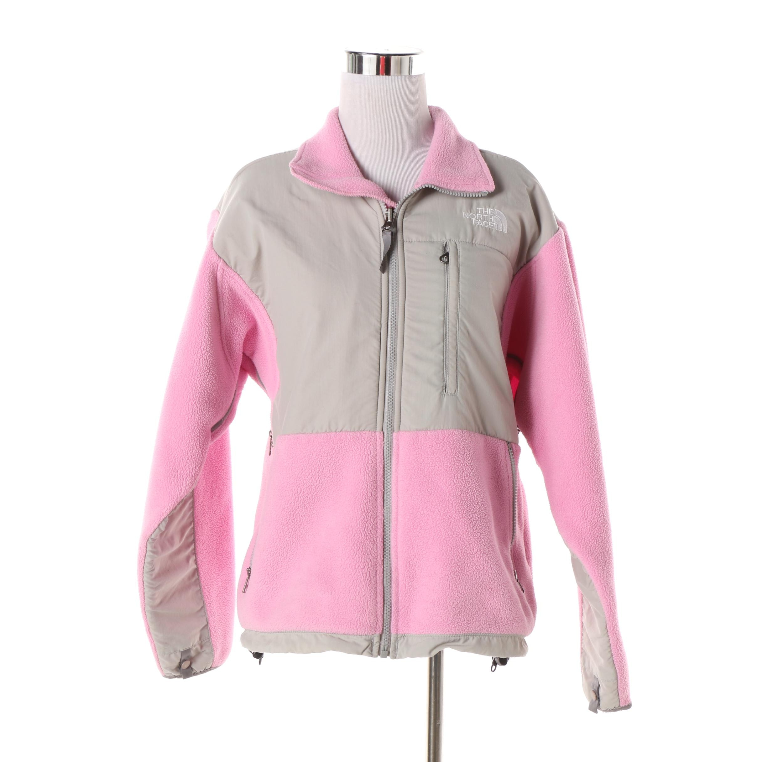 Women's The North Face Grey and Pink Jacket