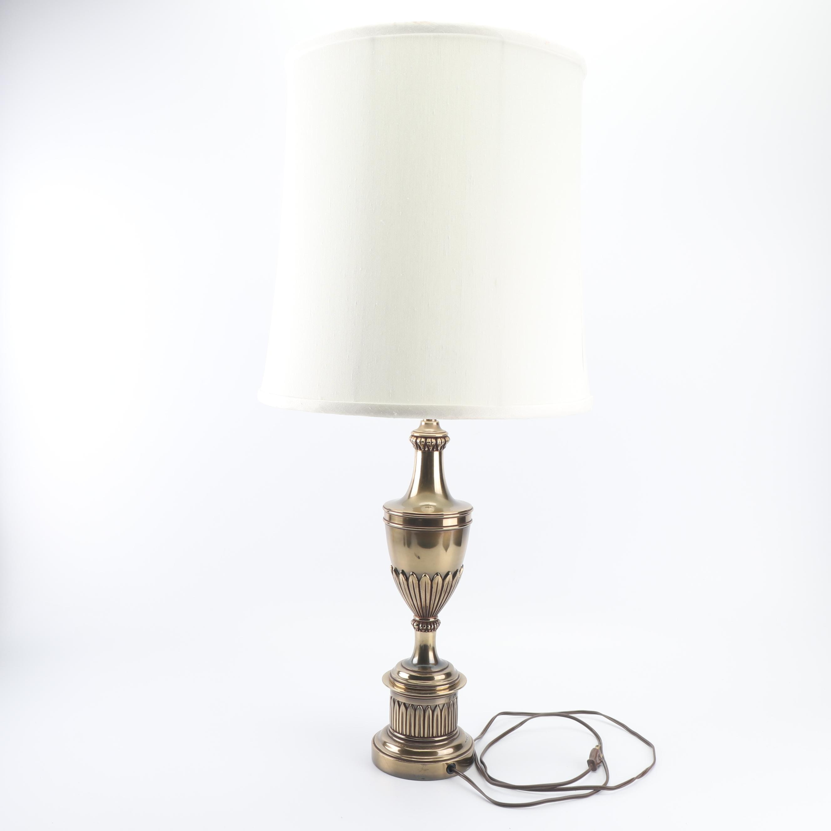 Stiffel Style Brass Lamp and Stiffel Shade