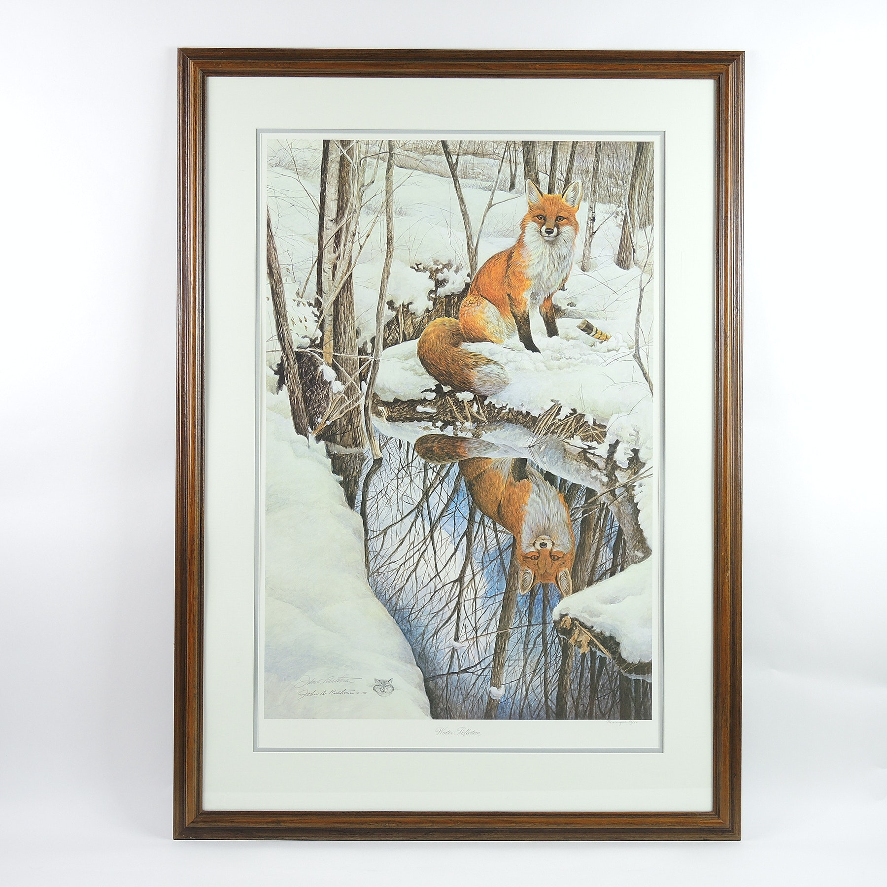 """John A. Ruthven Signed Remarque Edition 1985 """"Winter Reflection"""""""