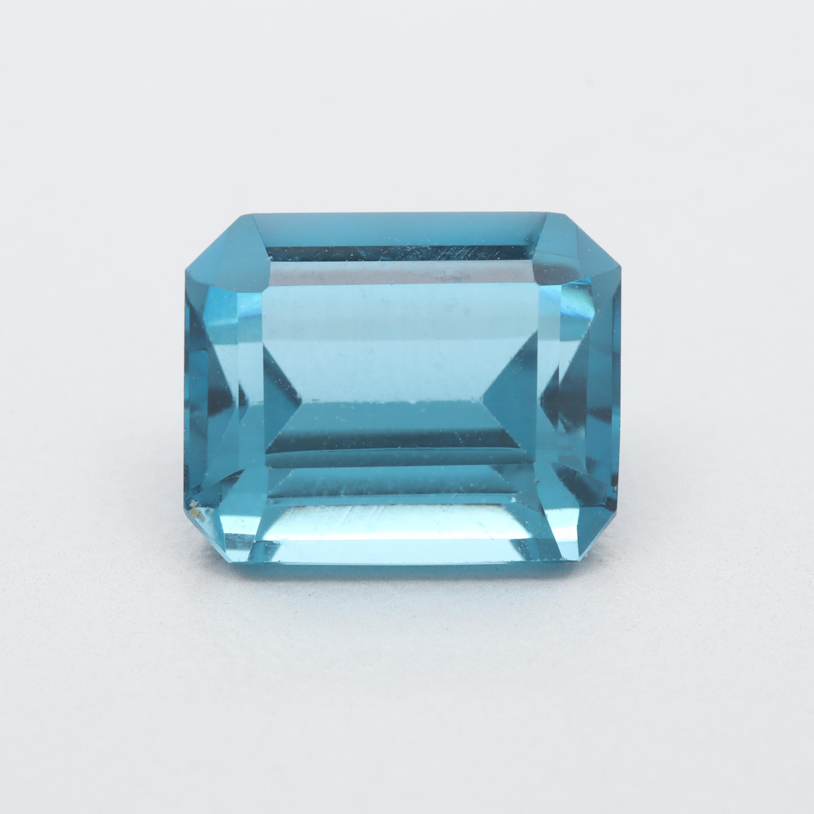 Loose 3.92 CT Blue Topaz Gemstone