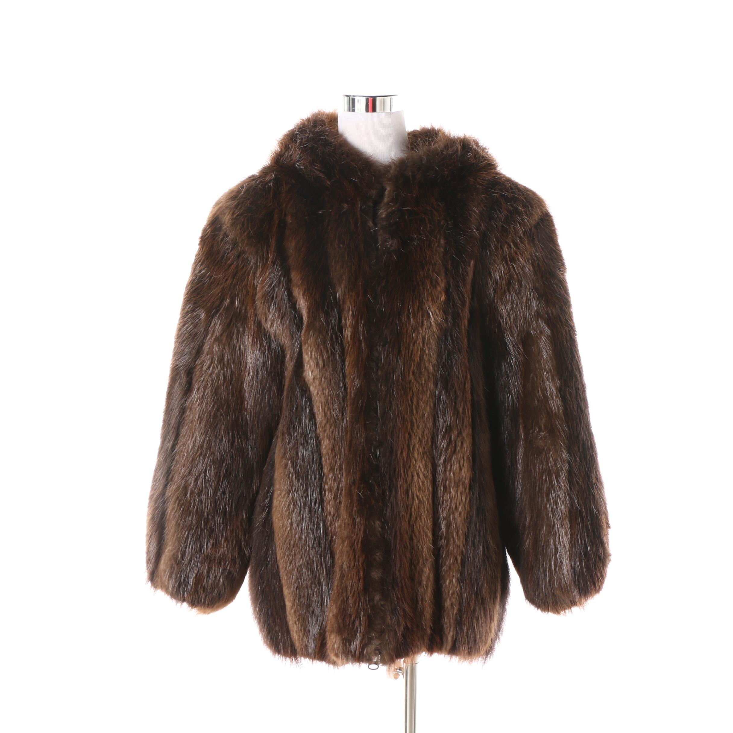 Women's Vintage Tibor Furs Brown Beaver Fur Coat