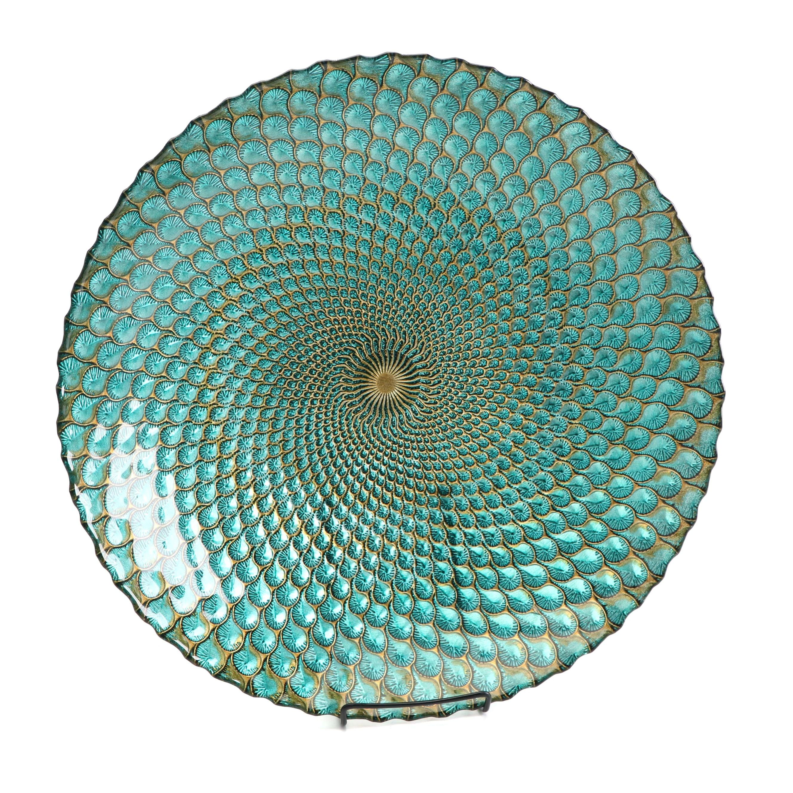 Decorative Peacock Inspired Centerpiece Bowl