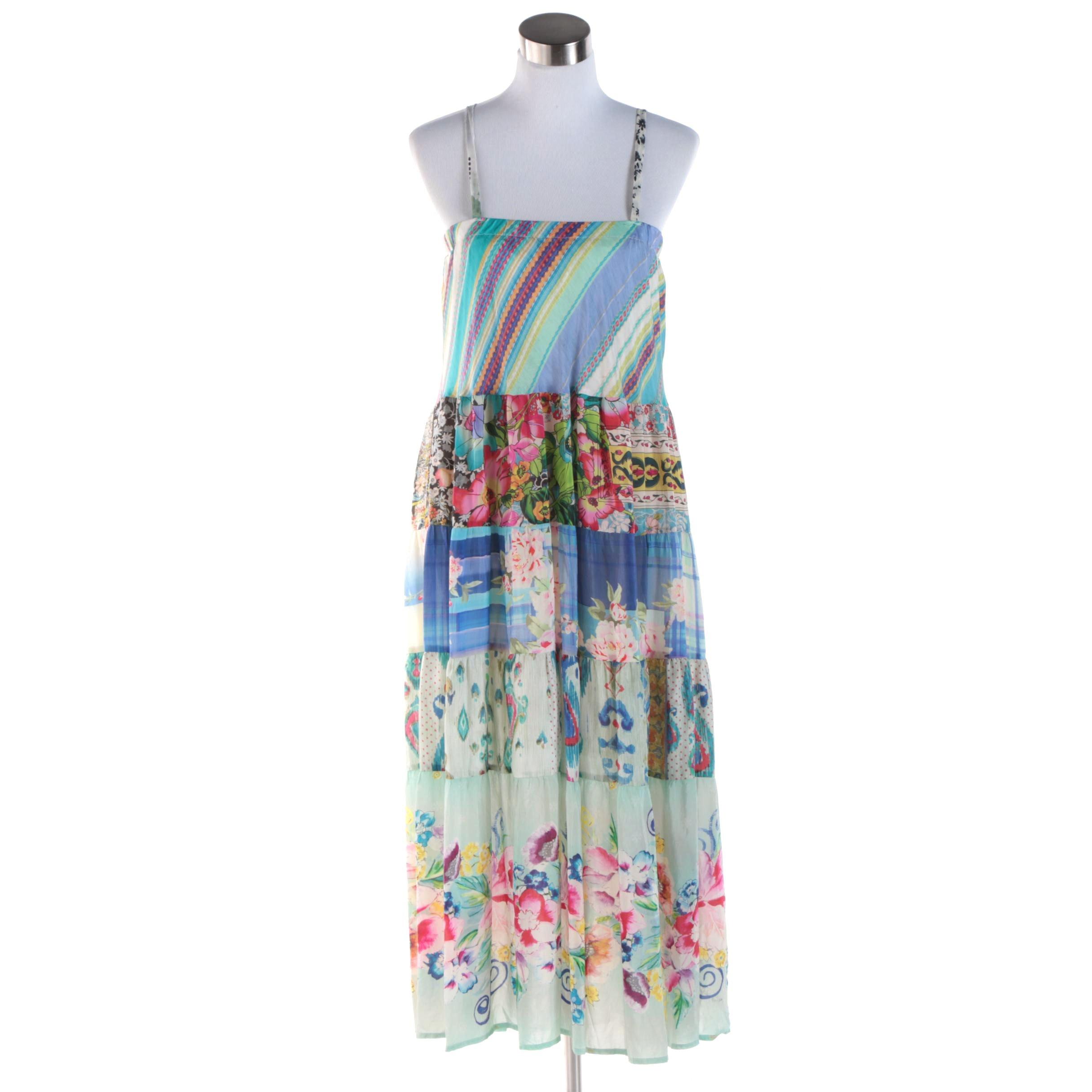 Women's Johnny Was Sleeveless Silk Maxi Dress