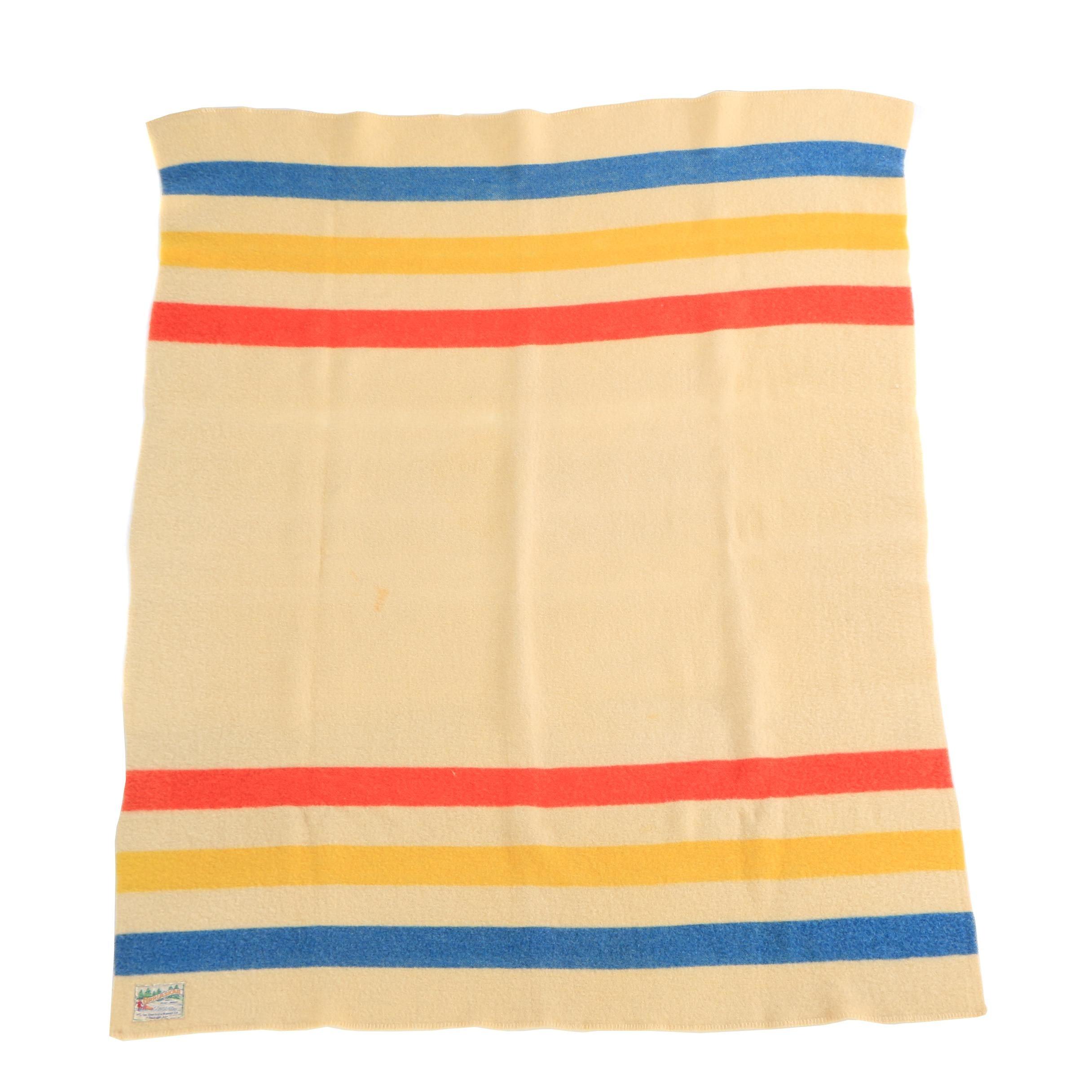 Orrlaskan Striped Wool Blanket by The Orr Felt & Blanket Co.