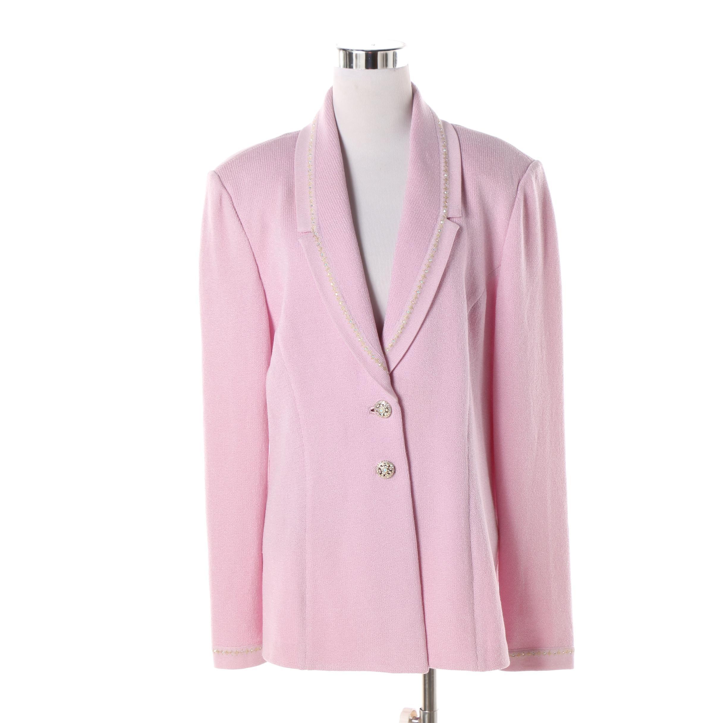 Women's St. John Evening Pink Knit Jacket