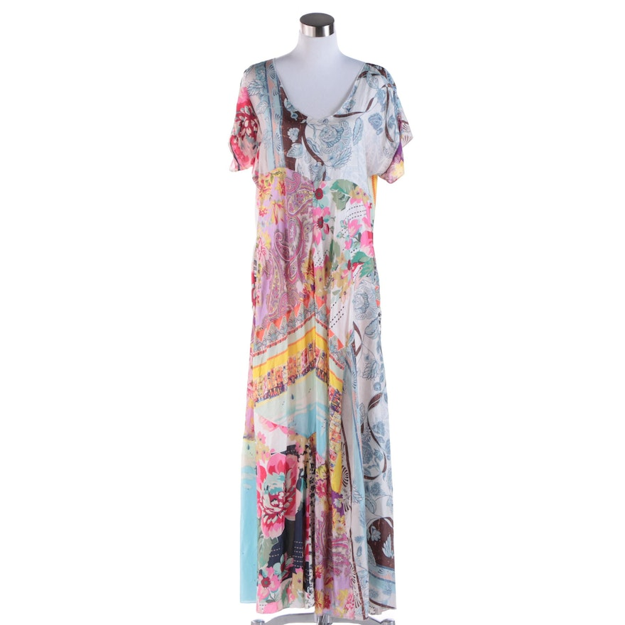 4120b3ada2d Women s Johnny Was Silk Floral Print Maxi Dress   EBTH