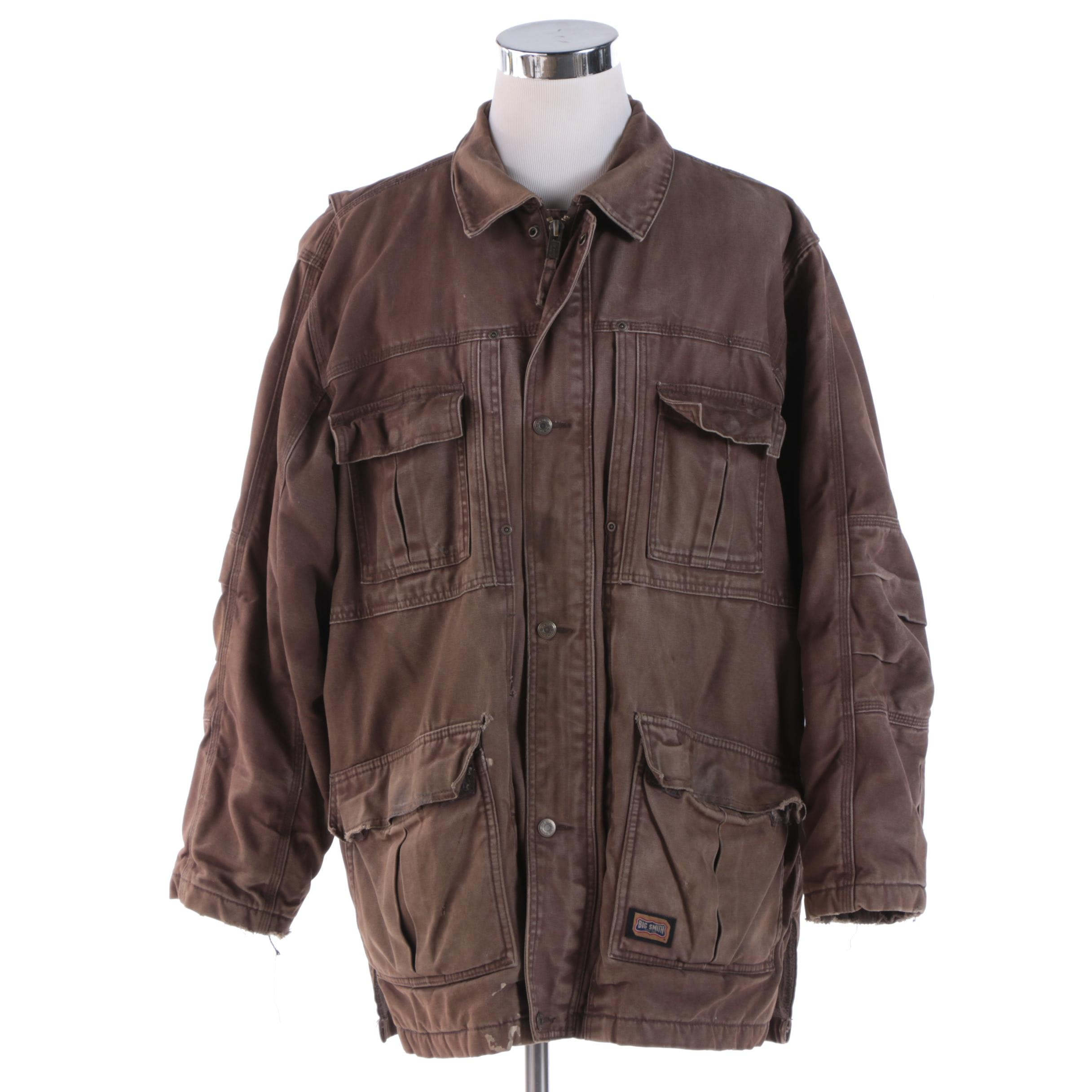 Men's Big Smith Brown Cotton Barn Coat