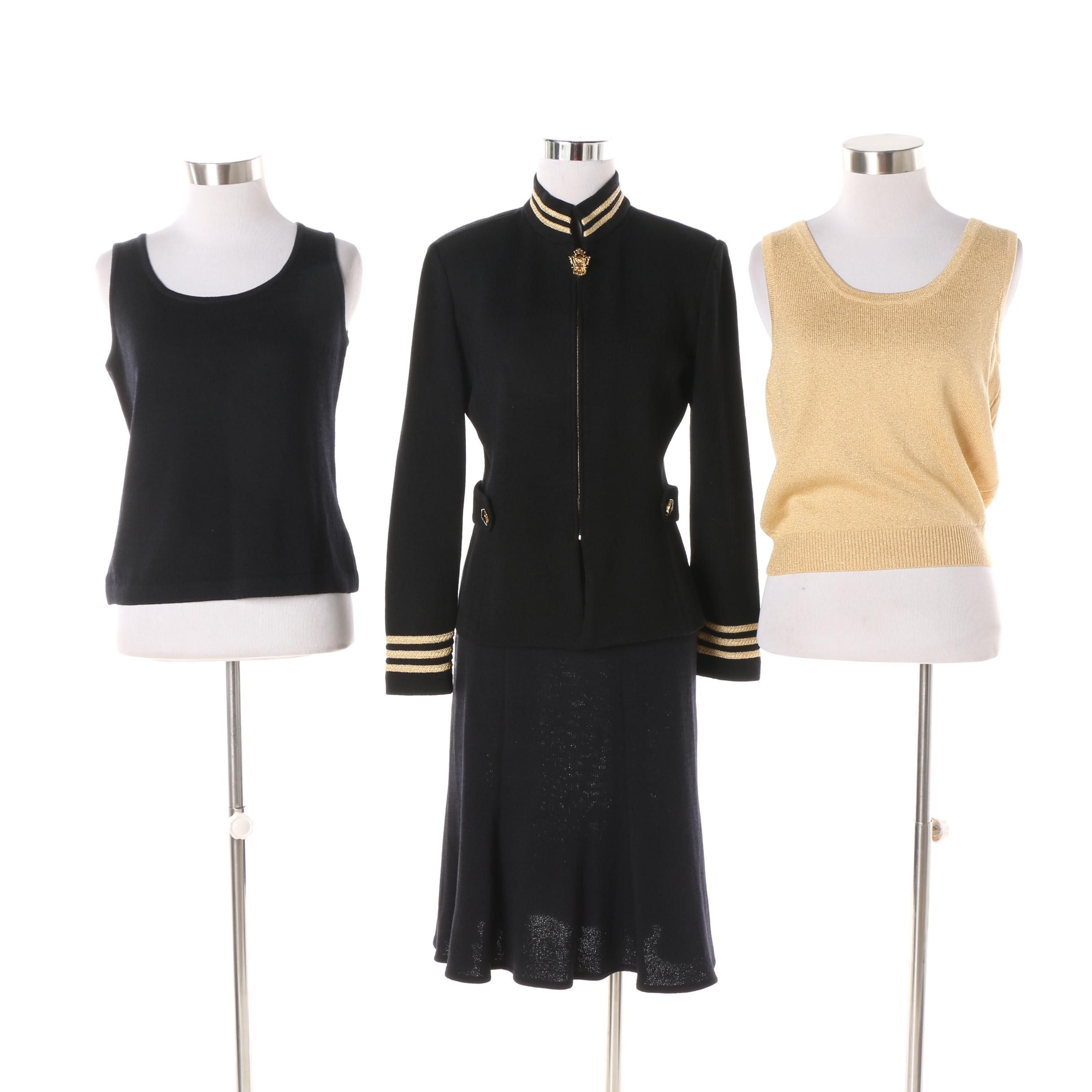 St. John Brand Clothing featuring Jacket and Skirt Set