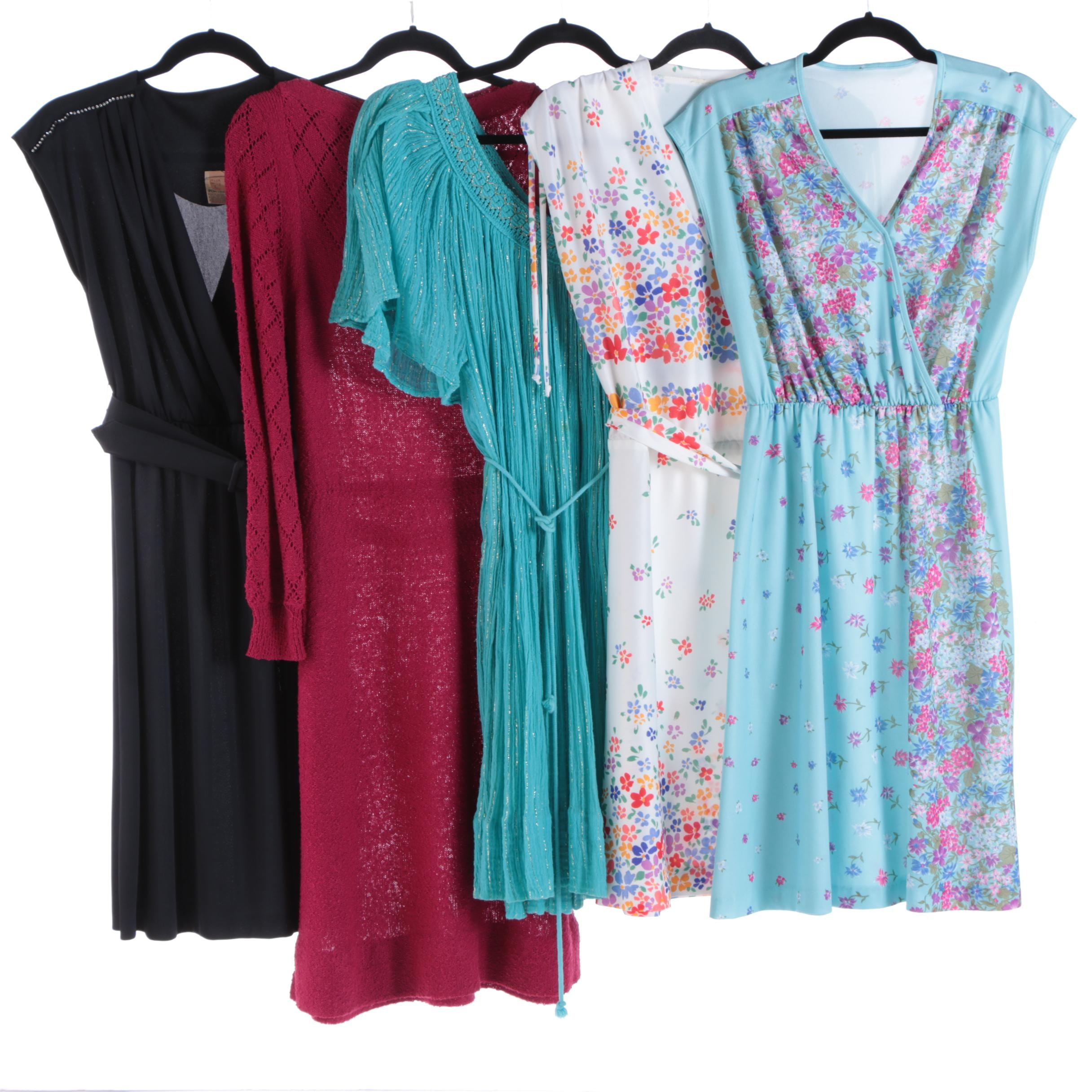 Women's Vintage Casual and Cocktail Dresses Including Just-Mort