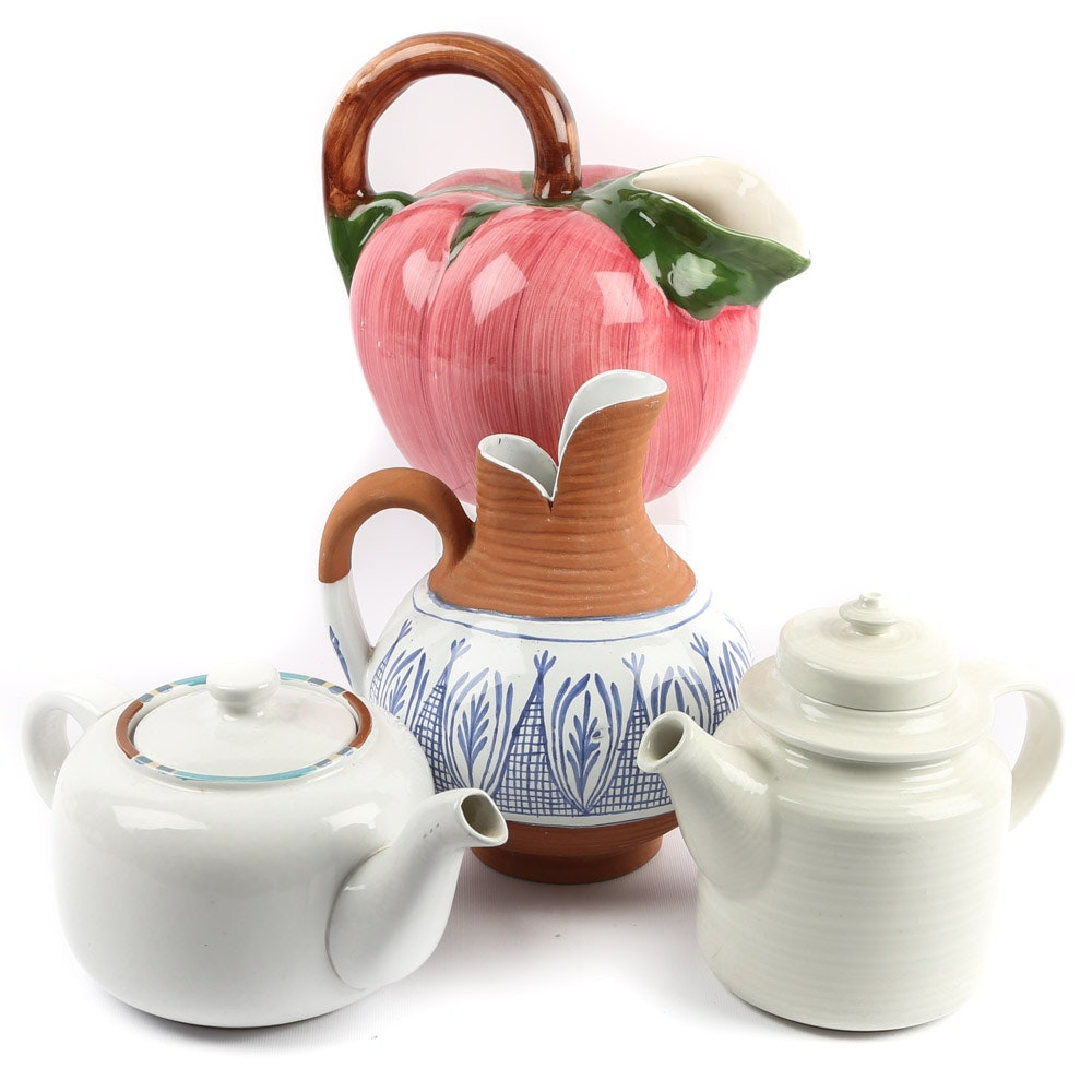 Decorative Pitchers and Teapots Featuring Dansk