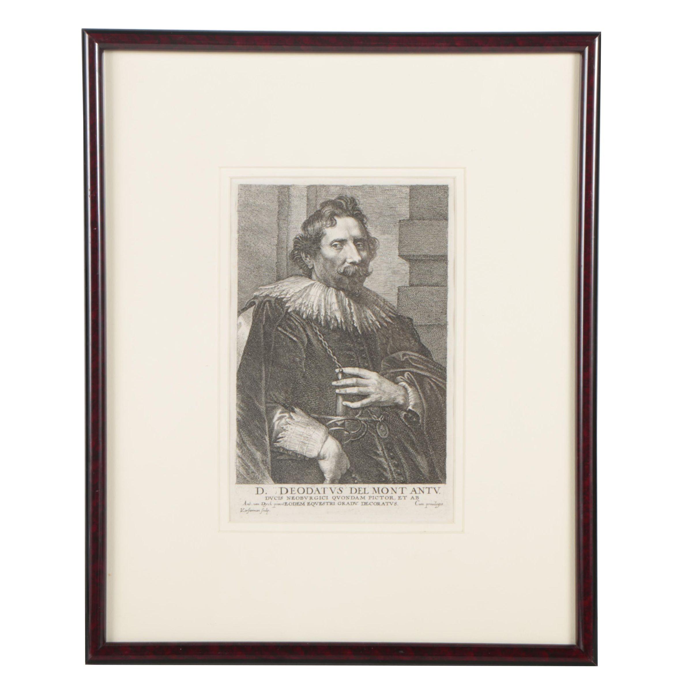 Lucas Vorsterman Etching after Sir Anthony van Dyck