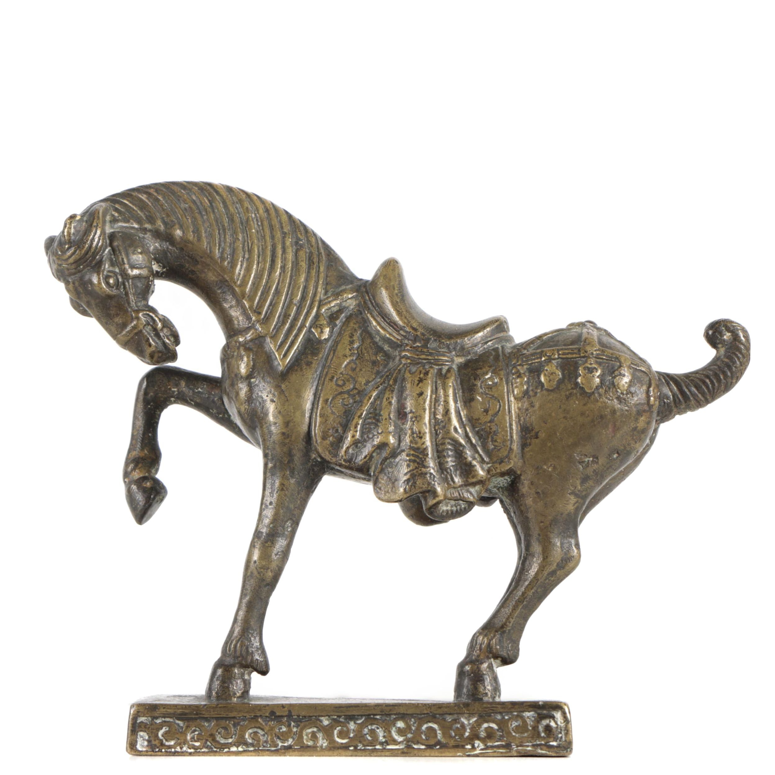 Chinese Style Cast Brass Horse Sculpture