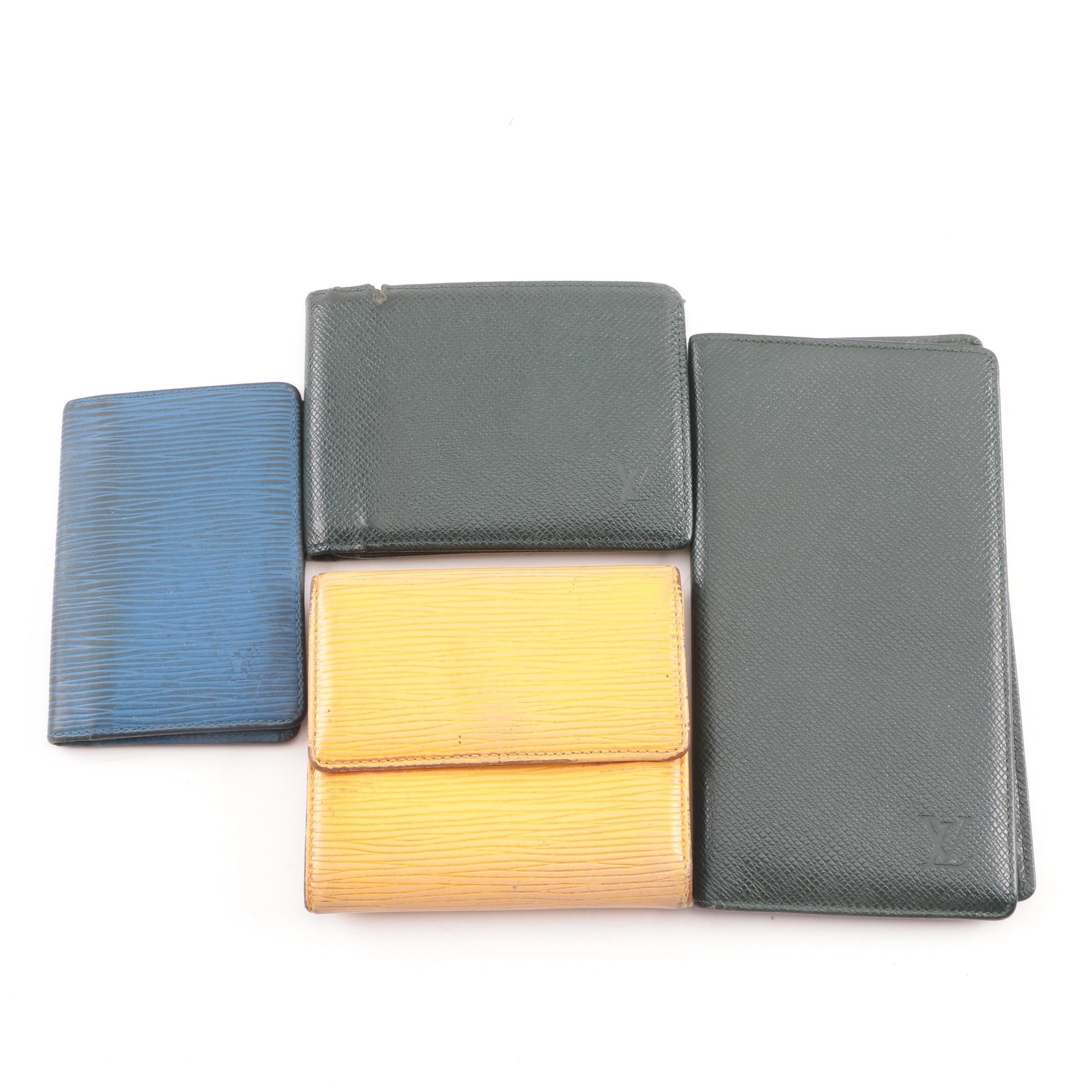 Vintgae Louis Vuitton Paris Leather Wallets and Card Case