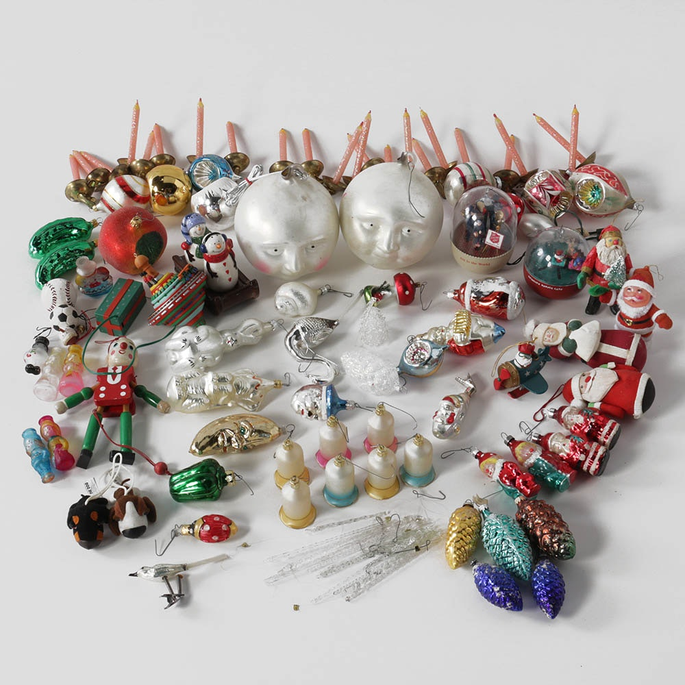 Vintage and Modern Christmas Ornaments and More