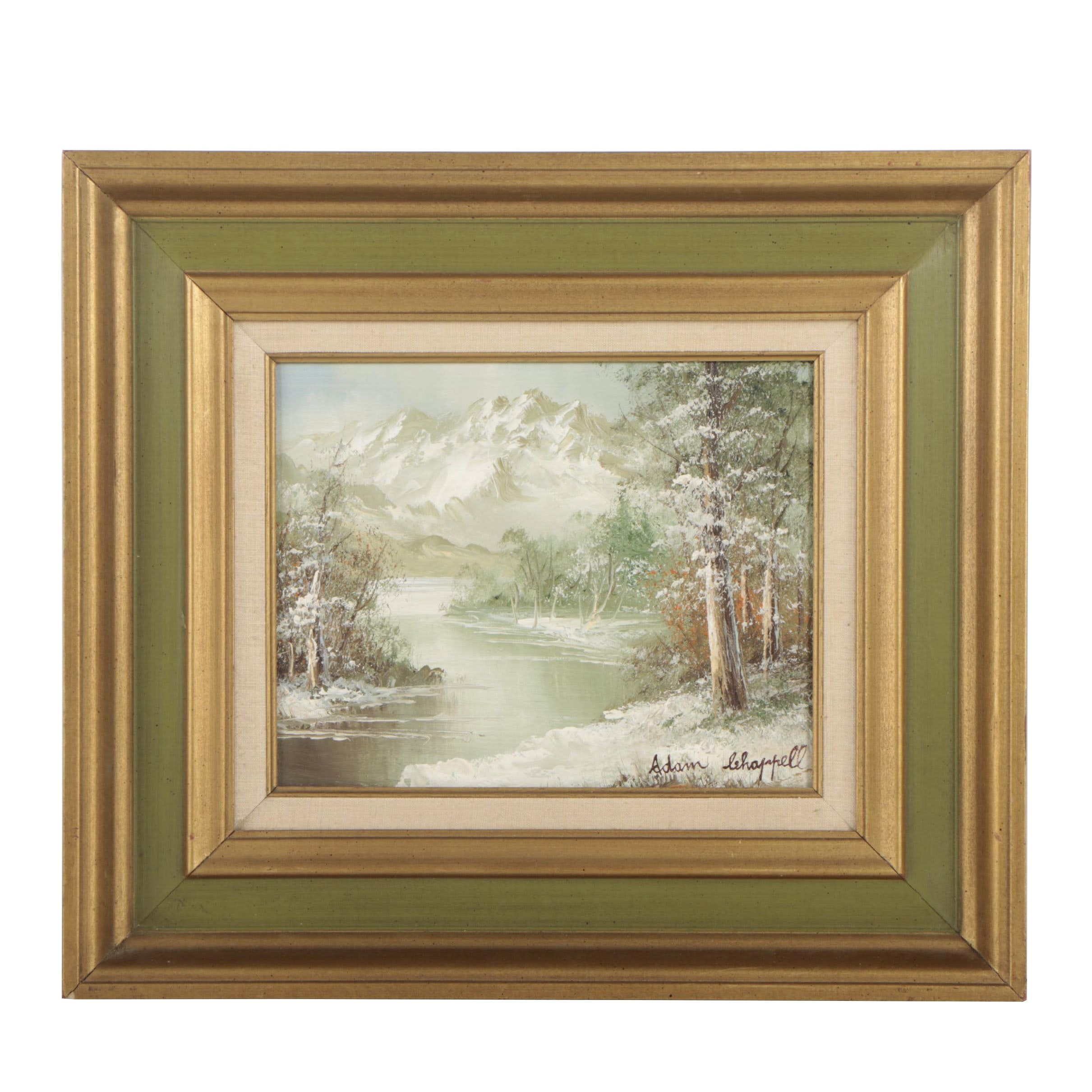 Adam Chappell Winter Landscape Oil Painting