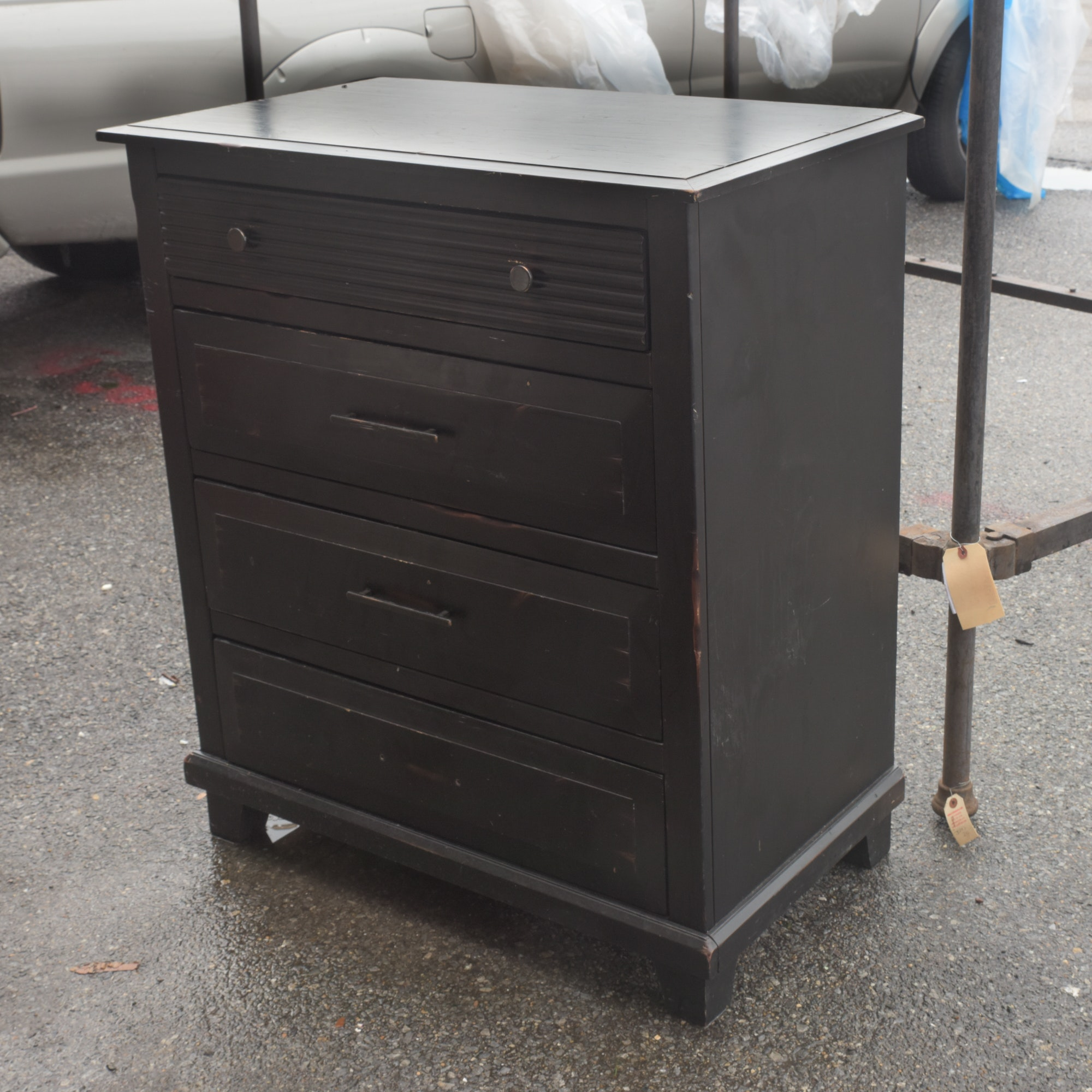 Contemporary Four-Drawer Chest by Pier 1