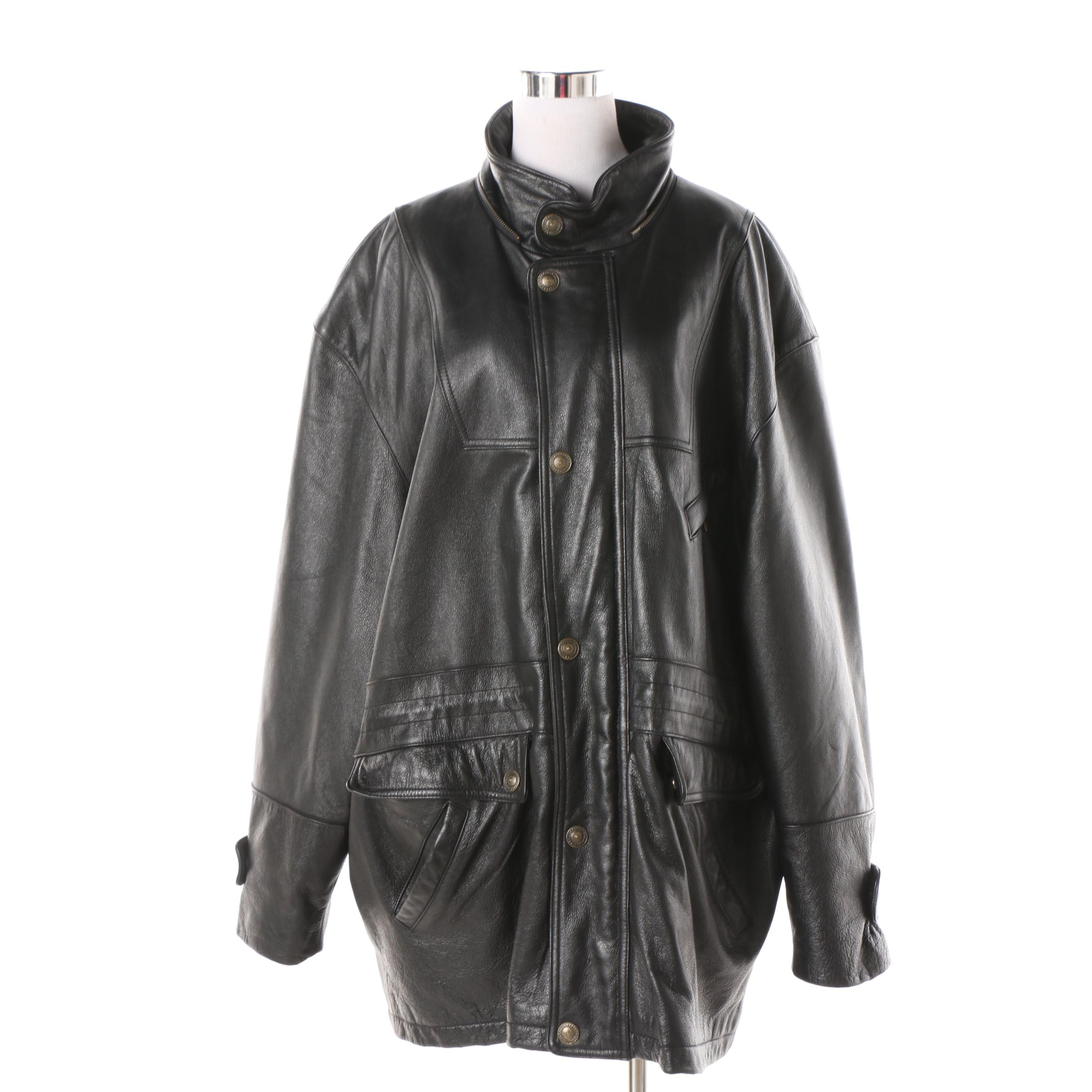 Men's Urban Cowboy Black Leather Coat