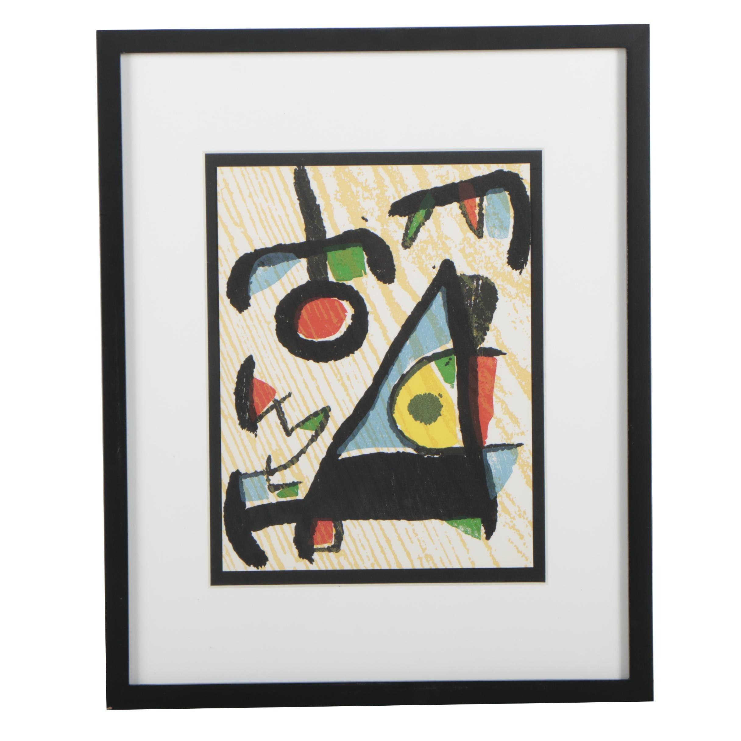"Joan Miró Woodcut for ""Miró: Graveur"""