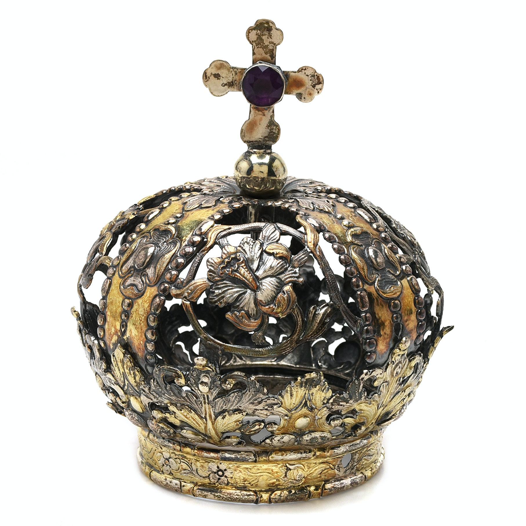 Sterling Silver Santos Crown