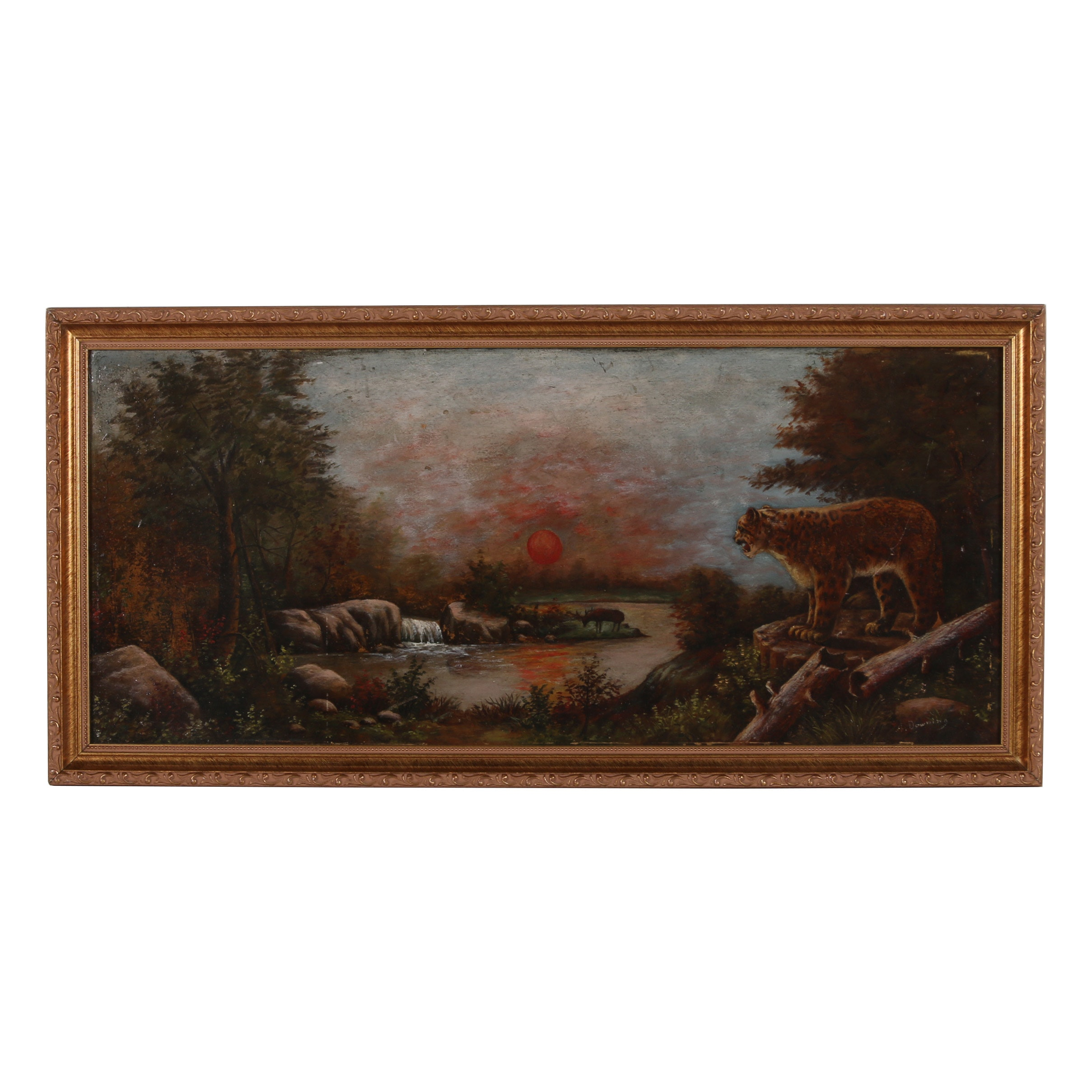 A. Downing Oil Painting