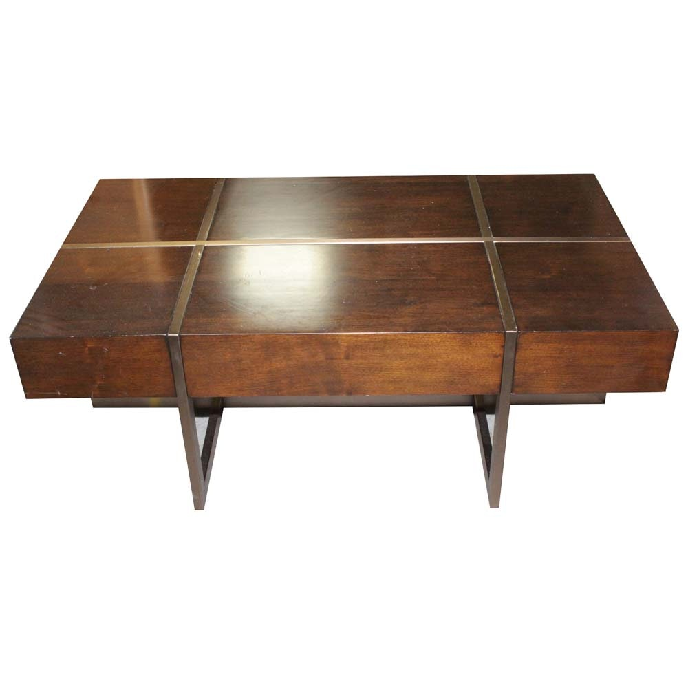 """Magda"" Mahogany Cocktail Table by Bernhardt Furniture Company"
