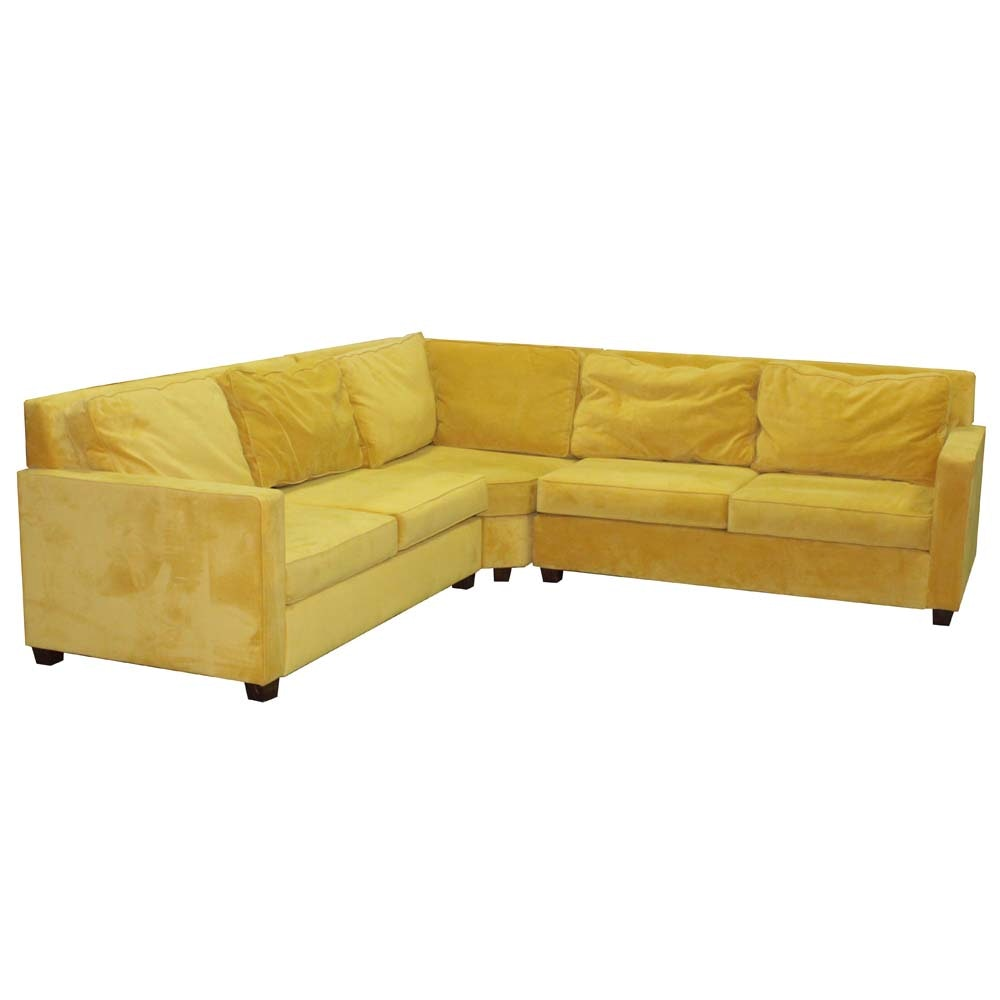 Contemporary Sectional Sofa by Crate + Barrel