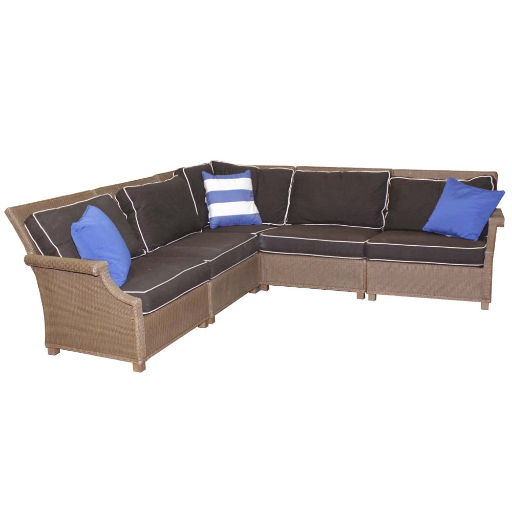 Lloyd Loom Sectional Patio Sofa