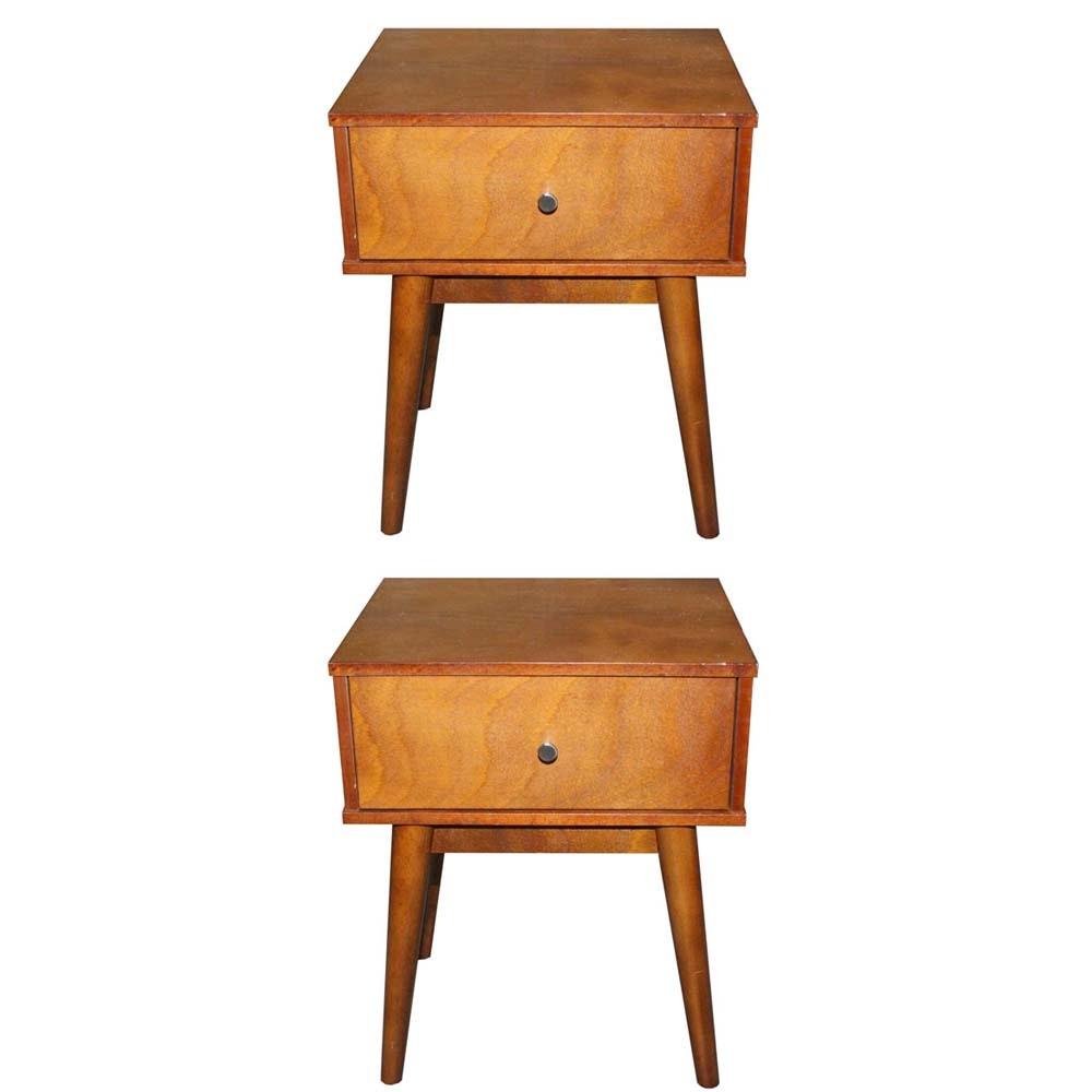 Mid Century Style Mahogany Side Tables
