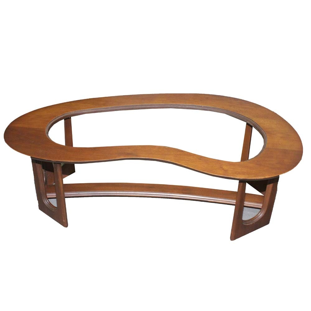 Mahogany Kidney Shaped Coffee Table Frame by Bassett
