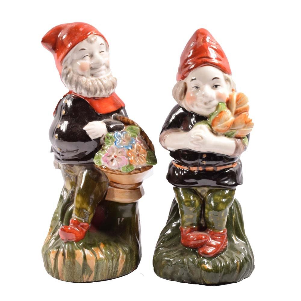 Ceramic Gnome Figurines