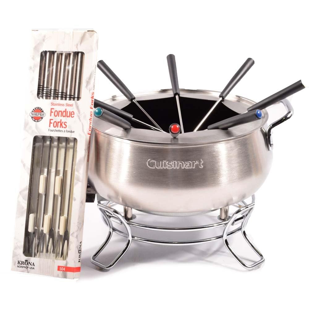 Cuisinart Electric Stainless Steel Fondue Set