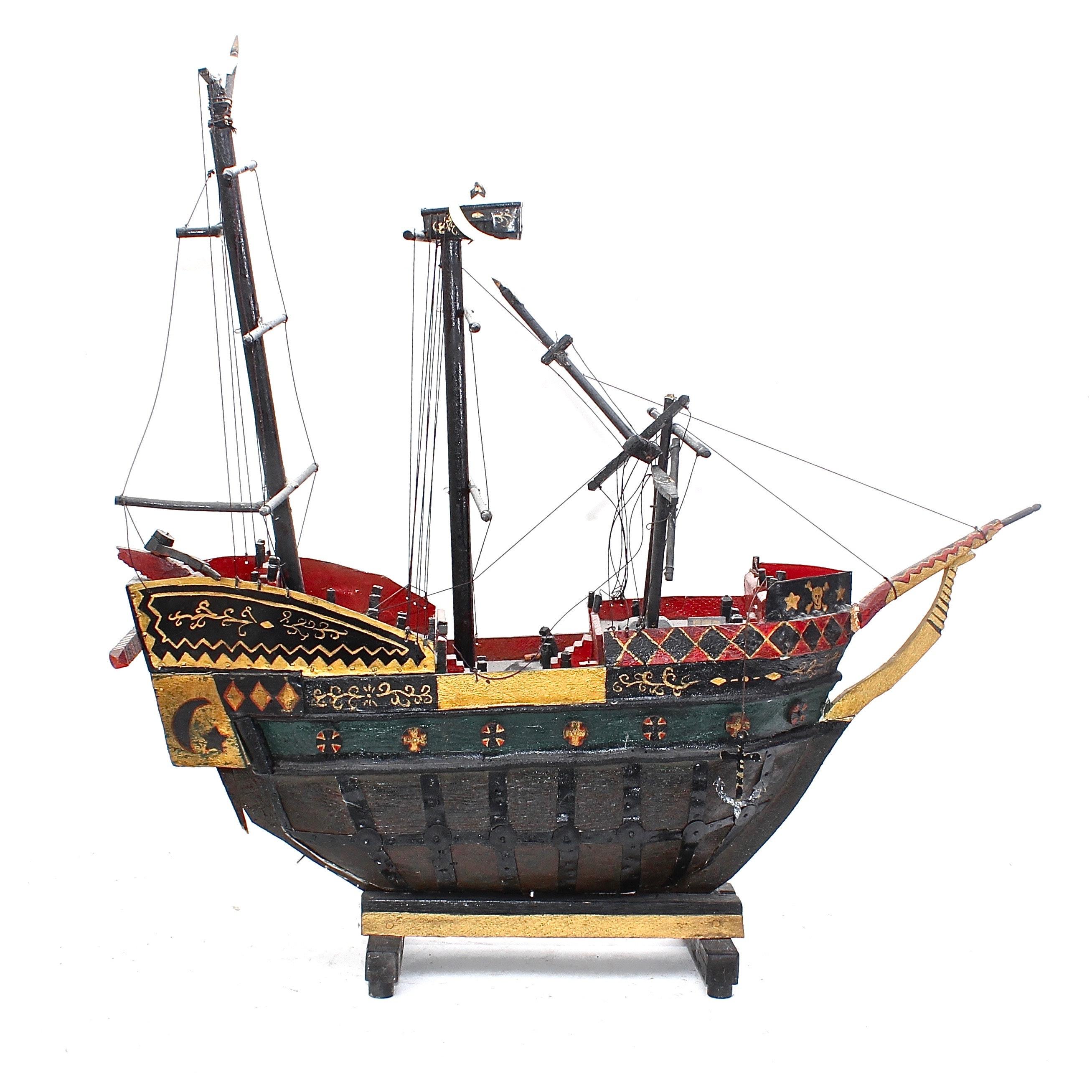 Vintage Pirate Ship Model