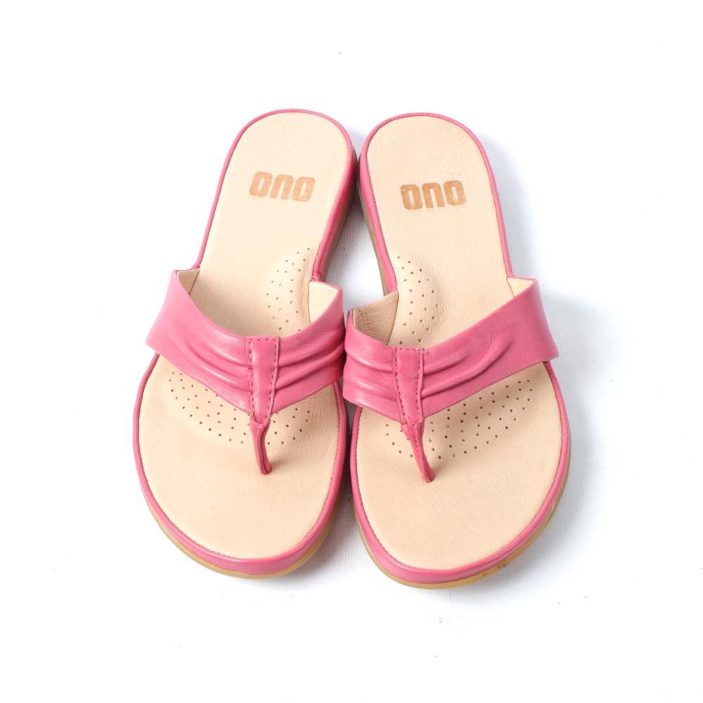 ONO Liv Pink Leather Thong Sandal