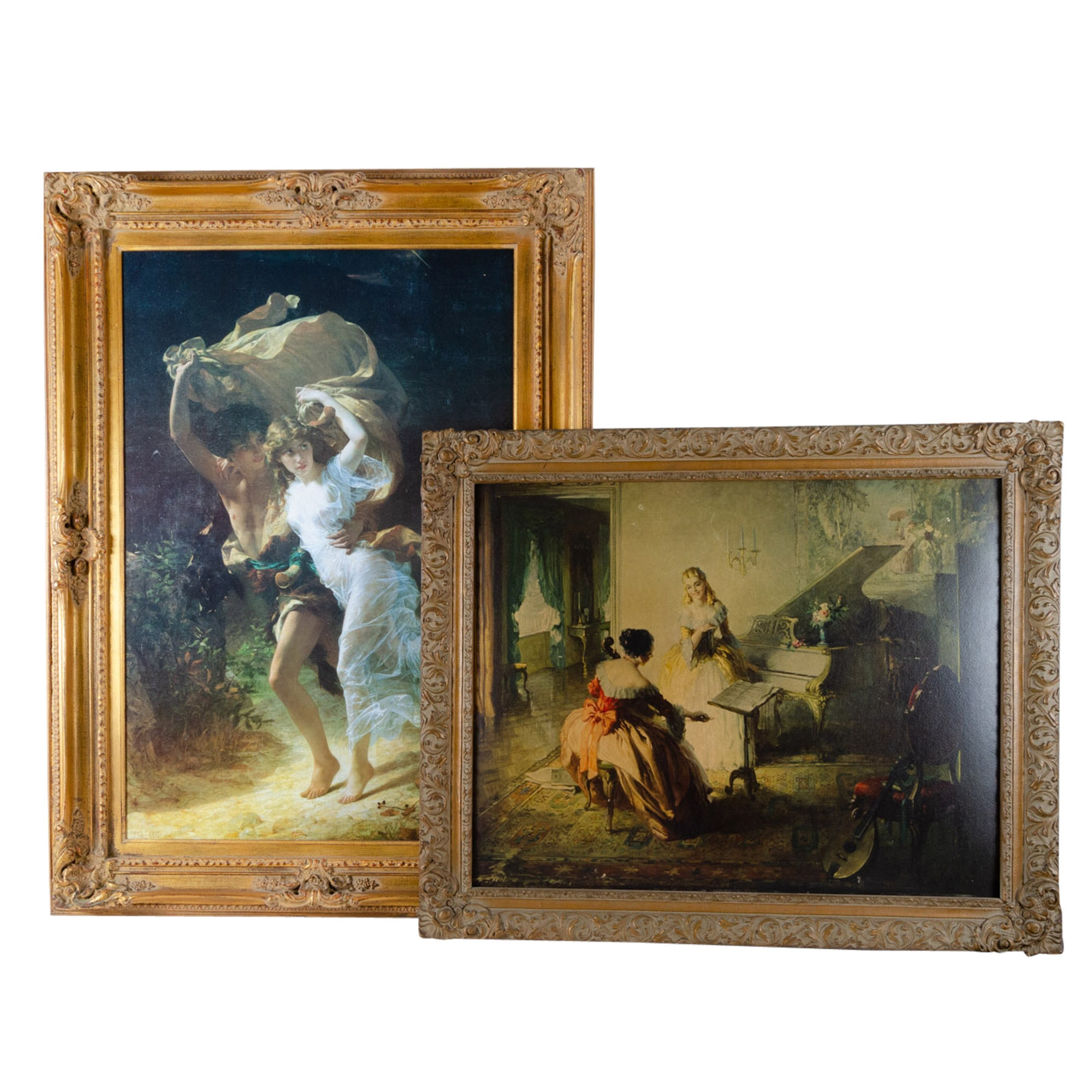 Vintage Neoclassical Style Offset Lithographs