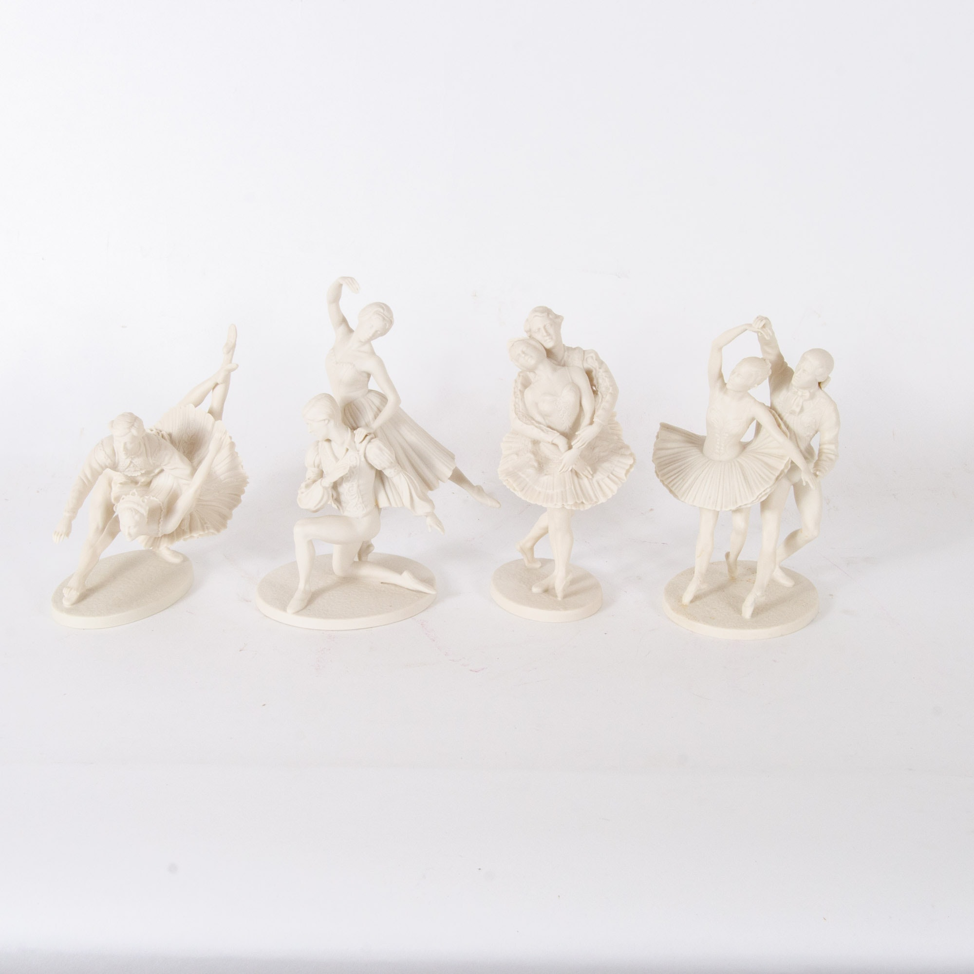 Limited Edition Franklin Mint Bisque Porcelain Ballet Figurines, Circa 1970s