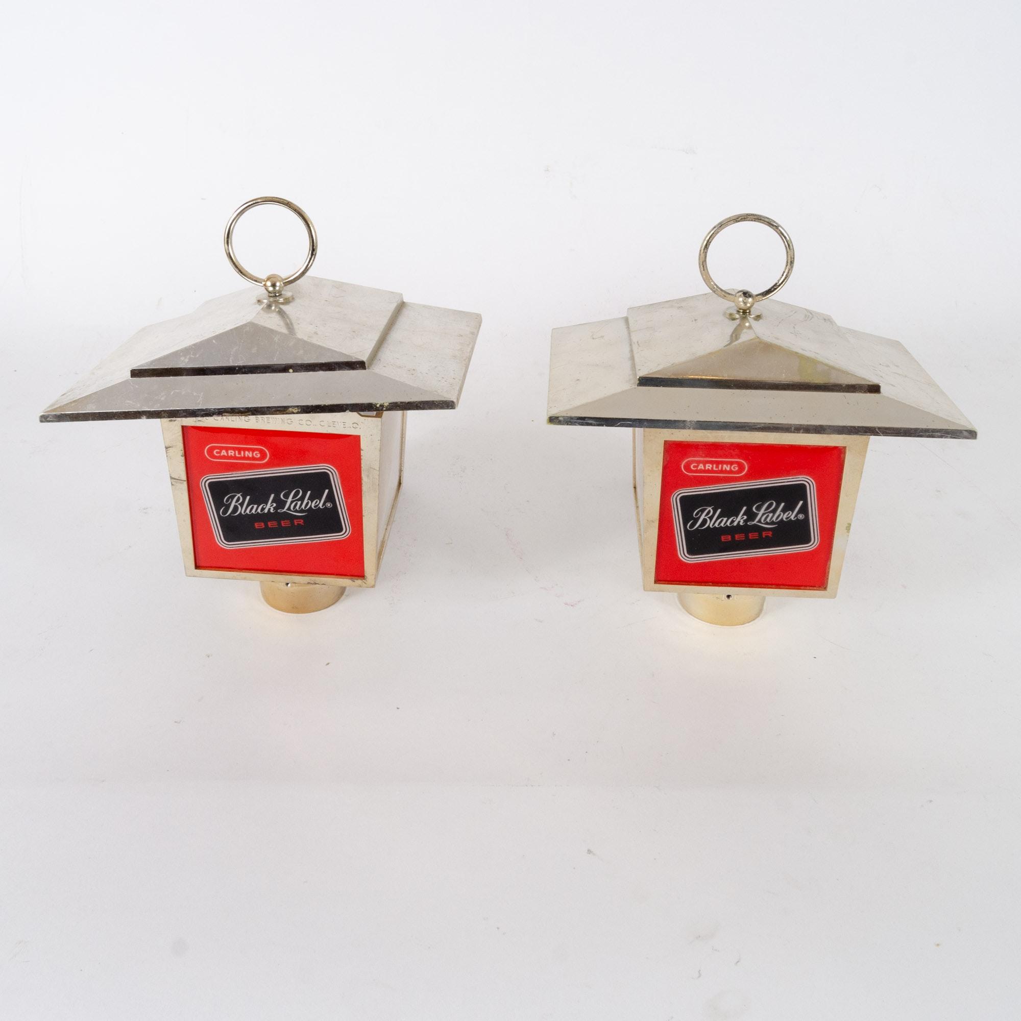 Vintage Carling Black Label Beer Lanterns