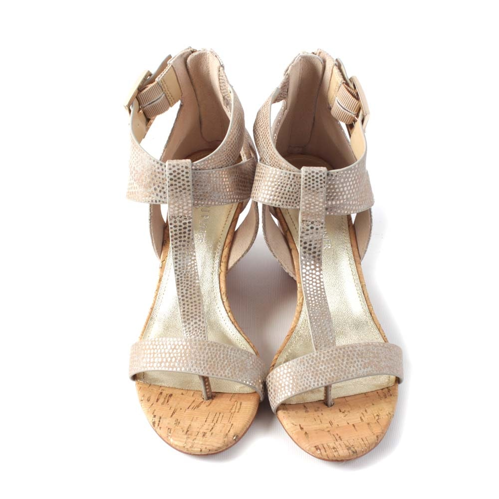 Donald J Pliner Platino Wedge Sandal