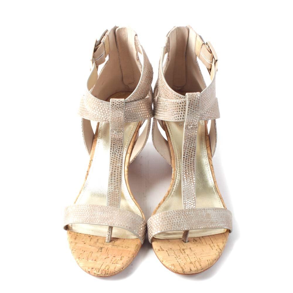 Donald J Pliner Platino Wedge Sandals