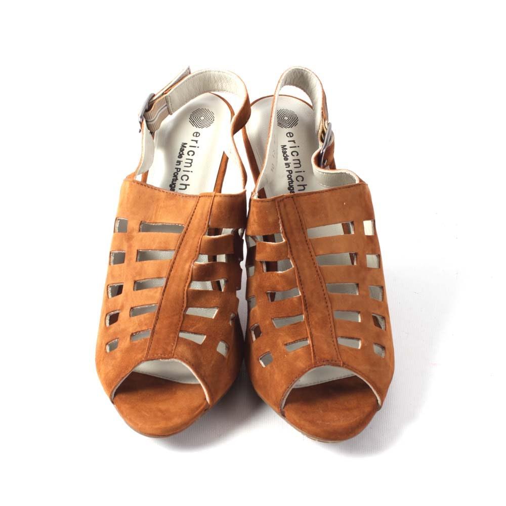 Eric Michaels Chili Tan Suede Sandals