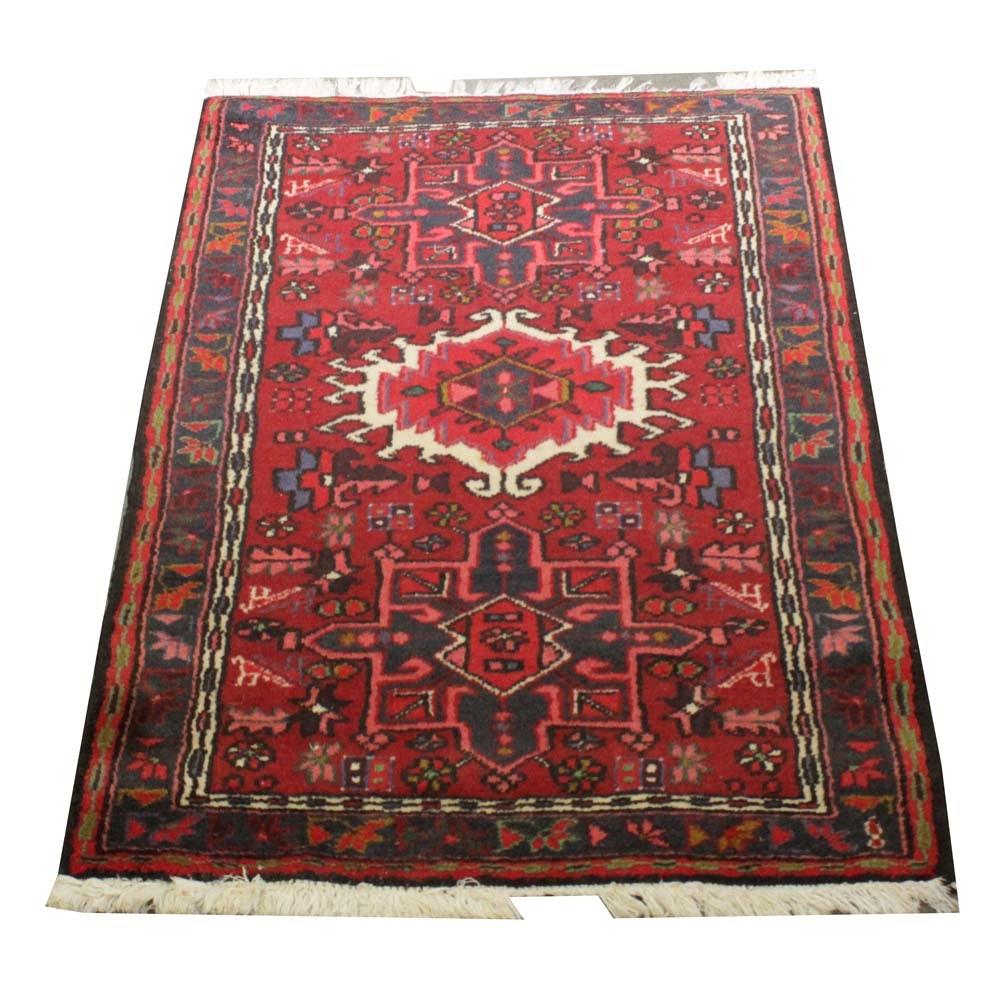 Hand-Knotted Azerbaijani Karaja Wool Area Rug