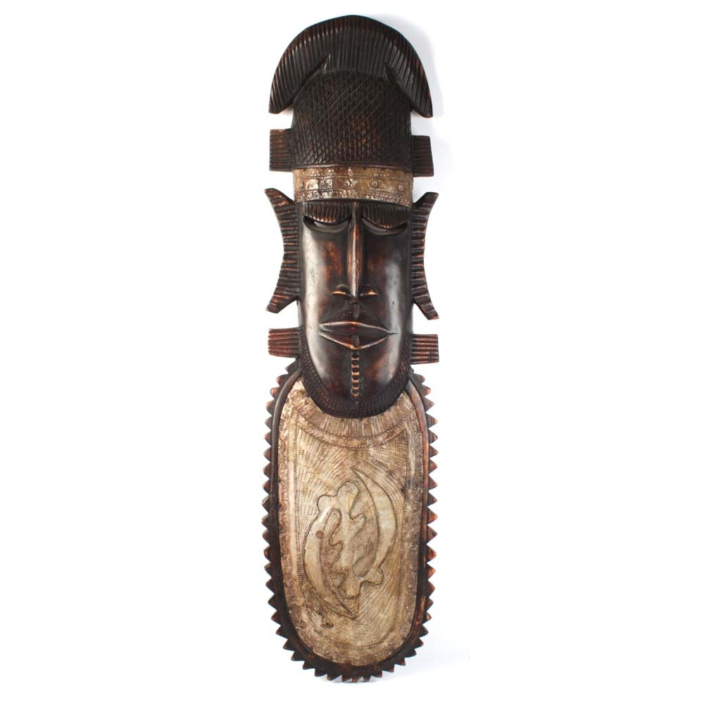 African Style Carved Wooden Mask