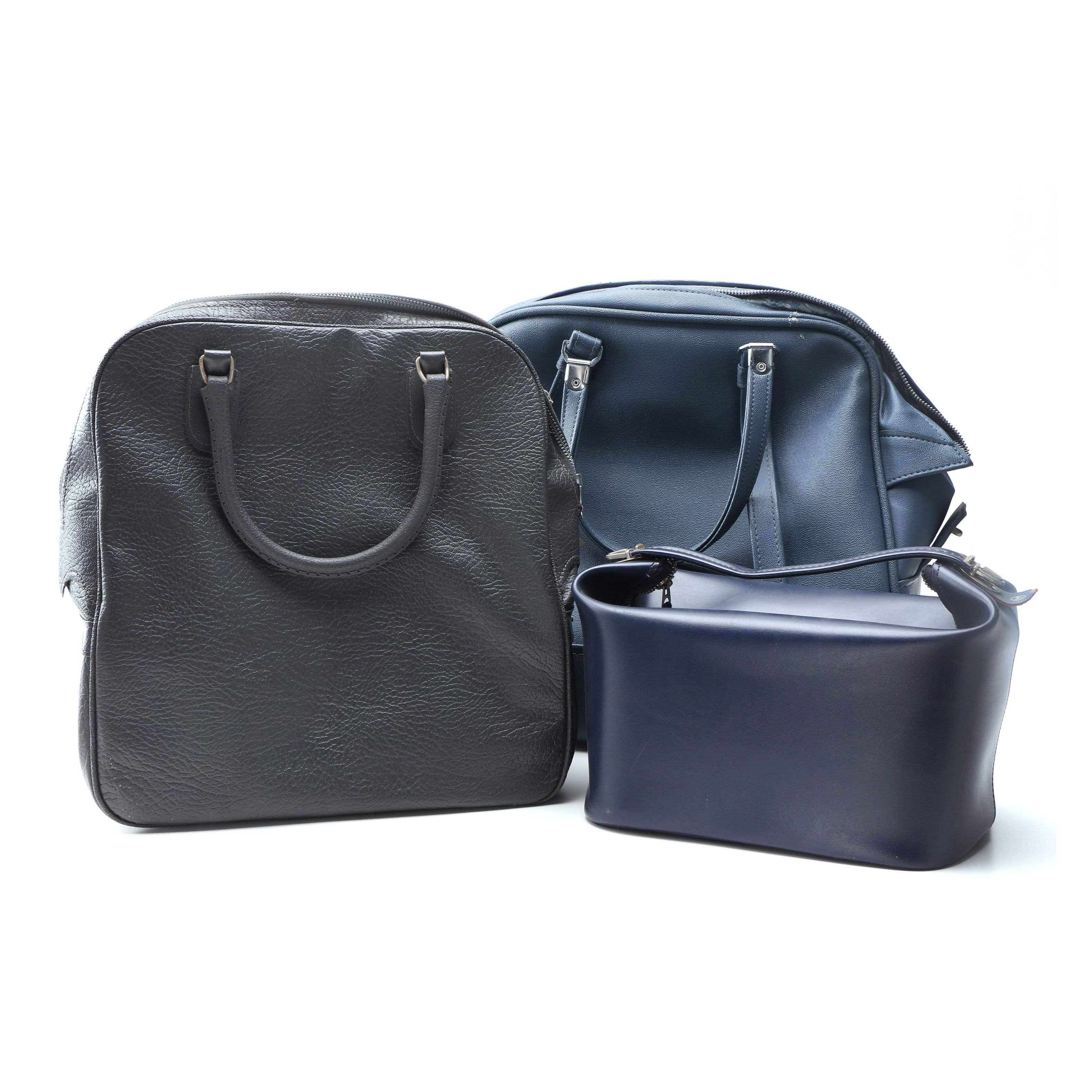 Vintage Faux Leather and Vinyl Carry-On Bags including American Tourister