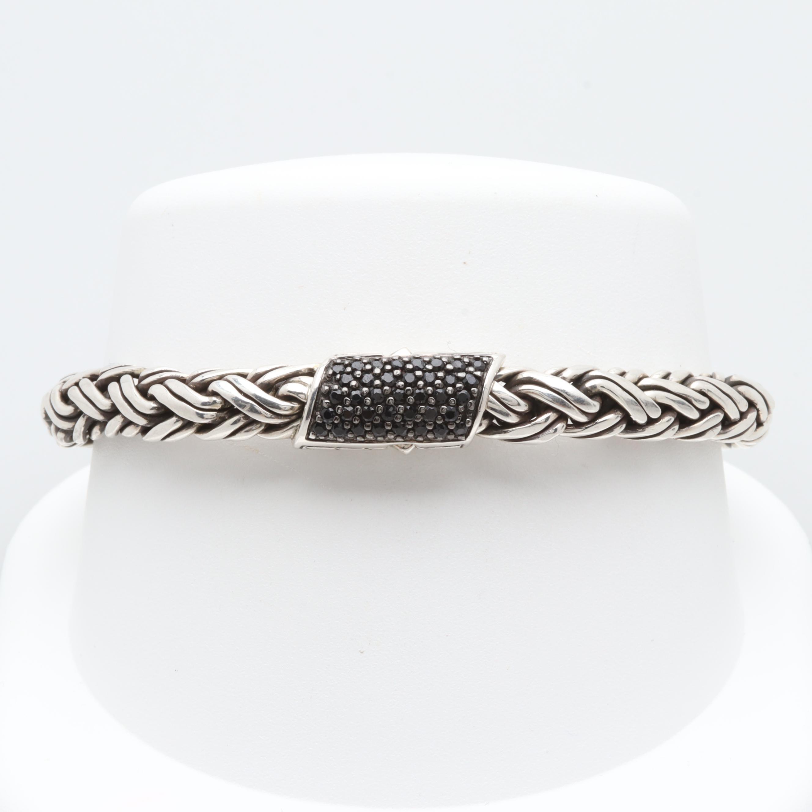 John Hardy Sterling Silver Sapphire Bracelet