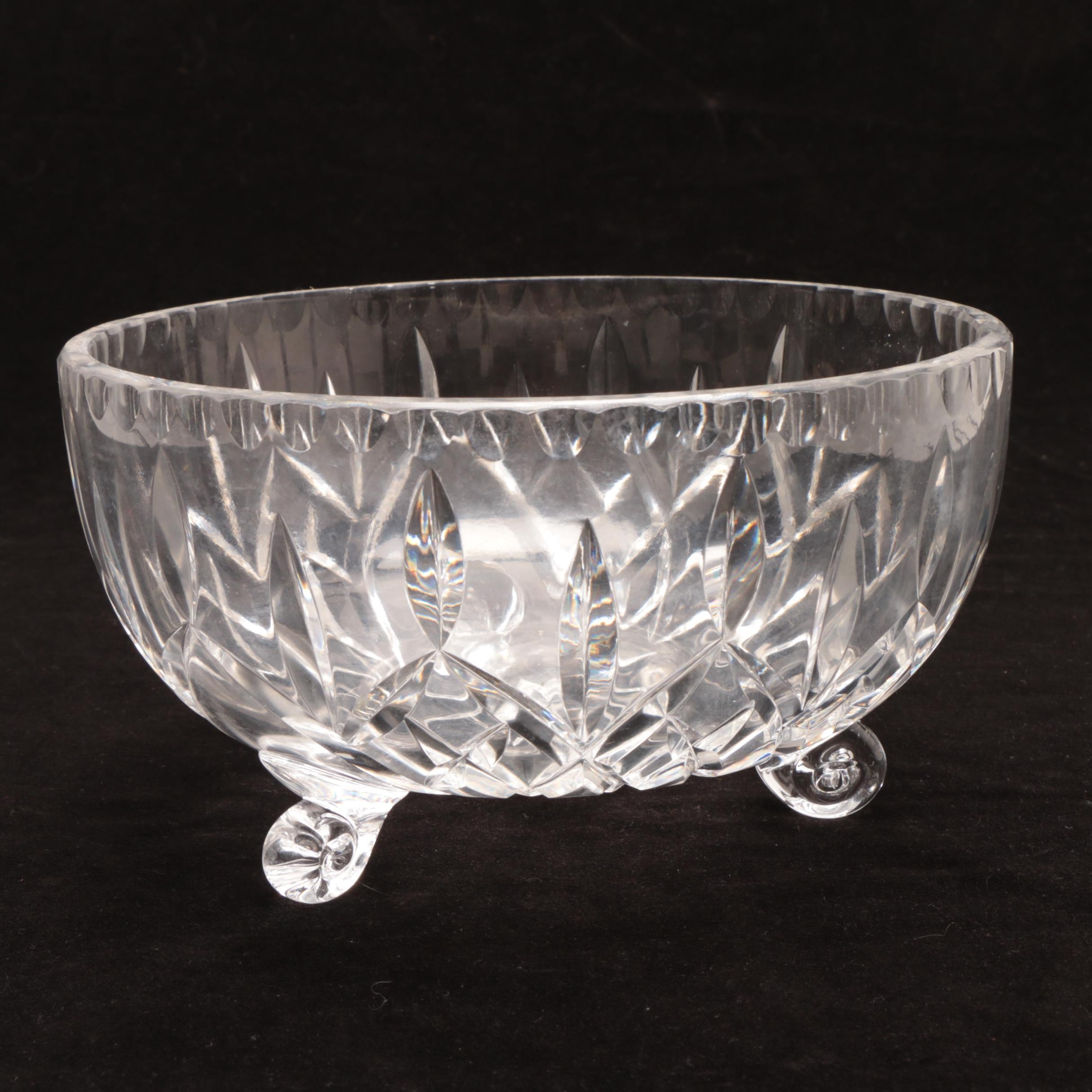 Cut Crystal Footed Bowl