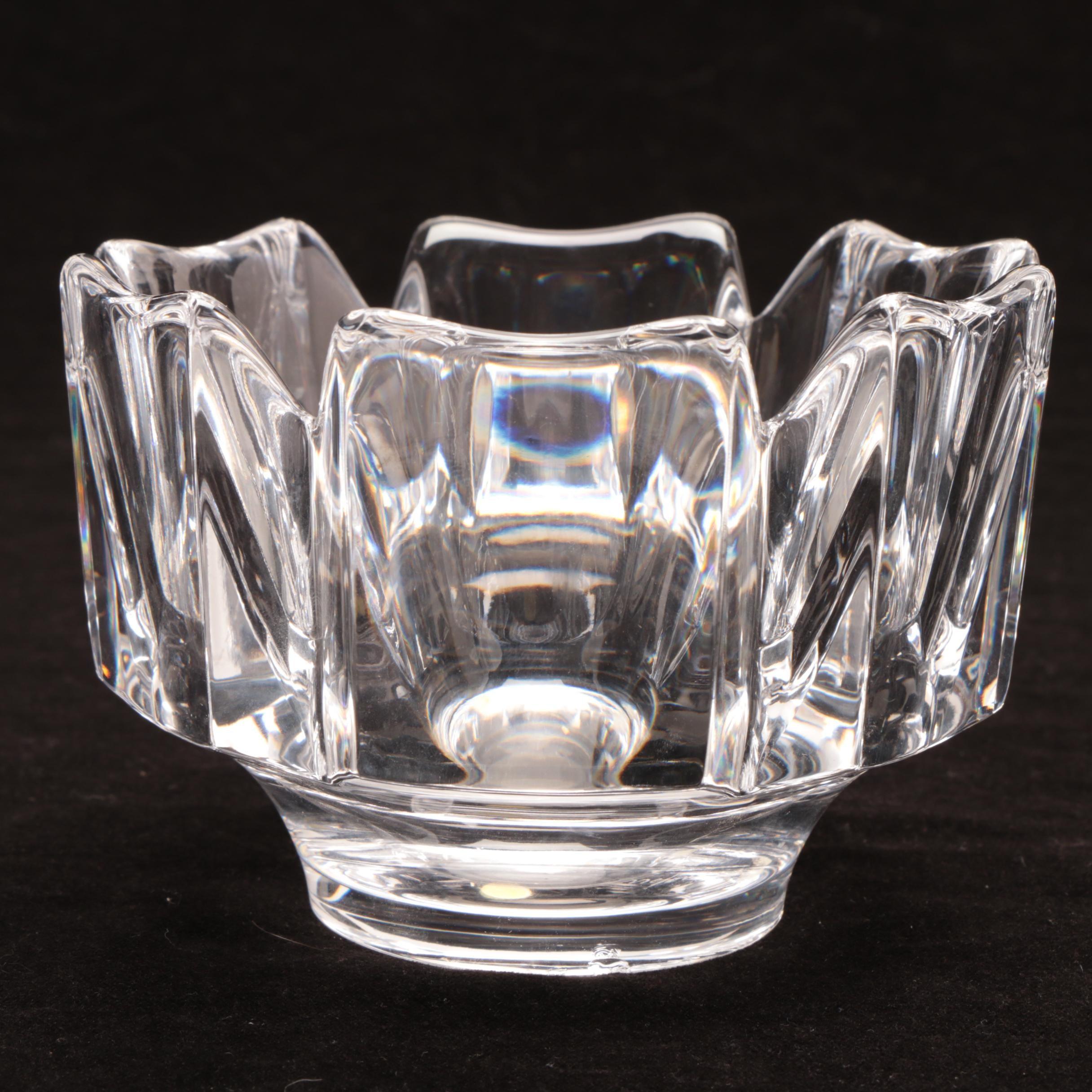 "Circa 1978 Orrefors ""Corona"" Crystal Bowl"
