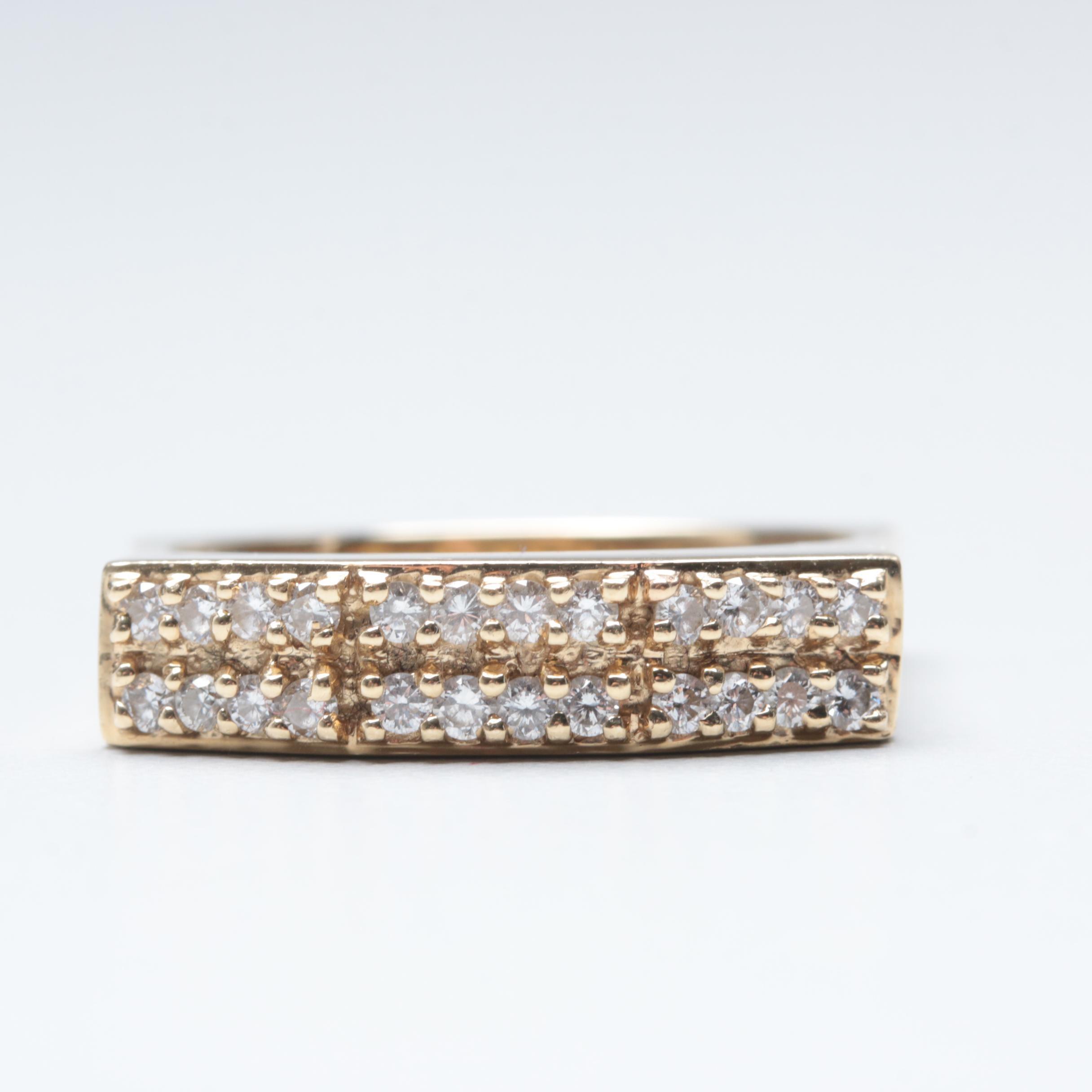Contemporary Sonia Bitton 14K Yellow Gold Diamond Ring