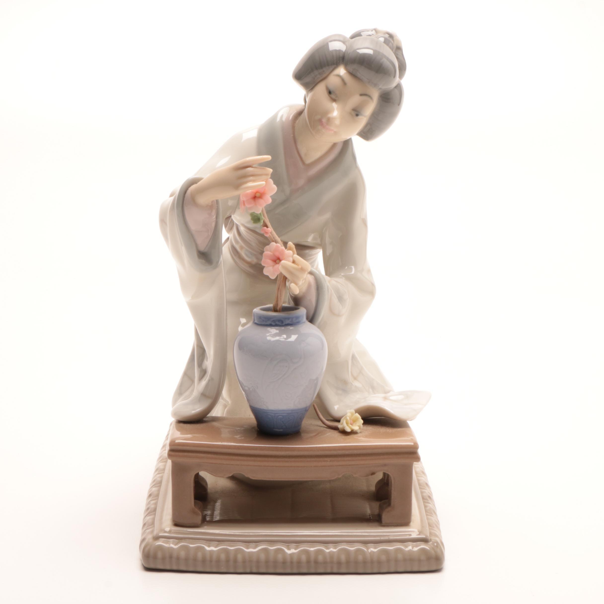 "Lladró ""Oriental Girl"" Porcelain Figurine"