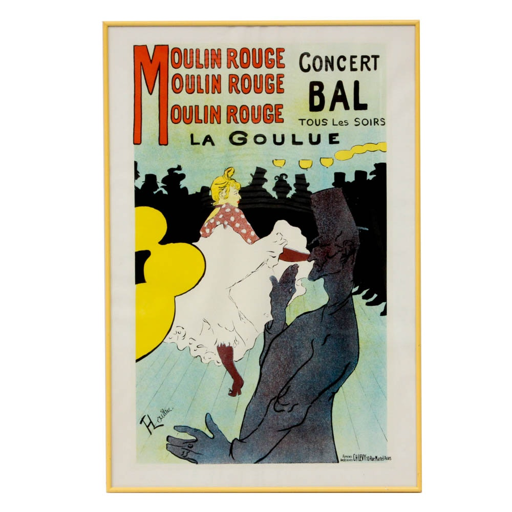 "Lithograph After Toulouse-Lautrec ""Moulin Rouge: La Goulue"""