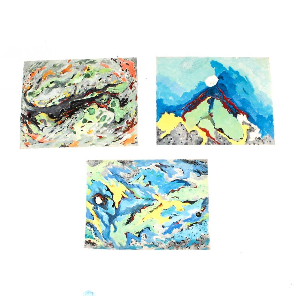 James Yoko Oil on Paper Paintings