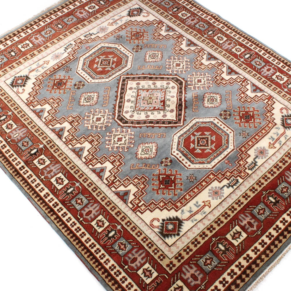 Hand-Knotted Indo-Caucasian Room-Size Rug